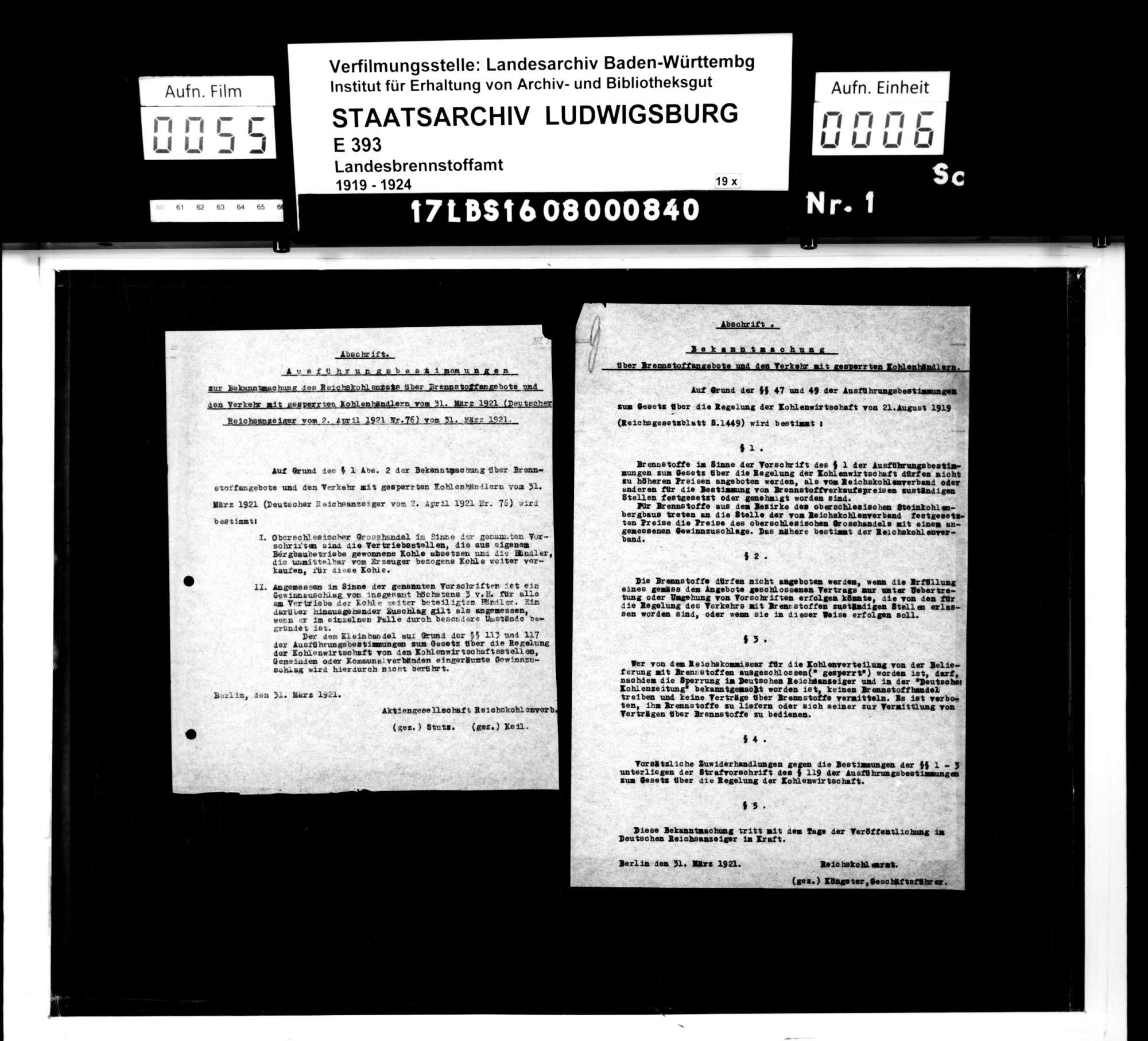 Gesetzliche Regelung der Kohlenbewirtschaftung und Bildung eines Reichskohlenrats, Bild 3