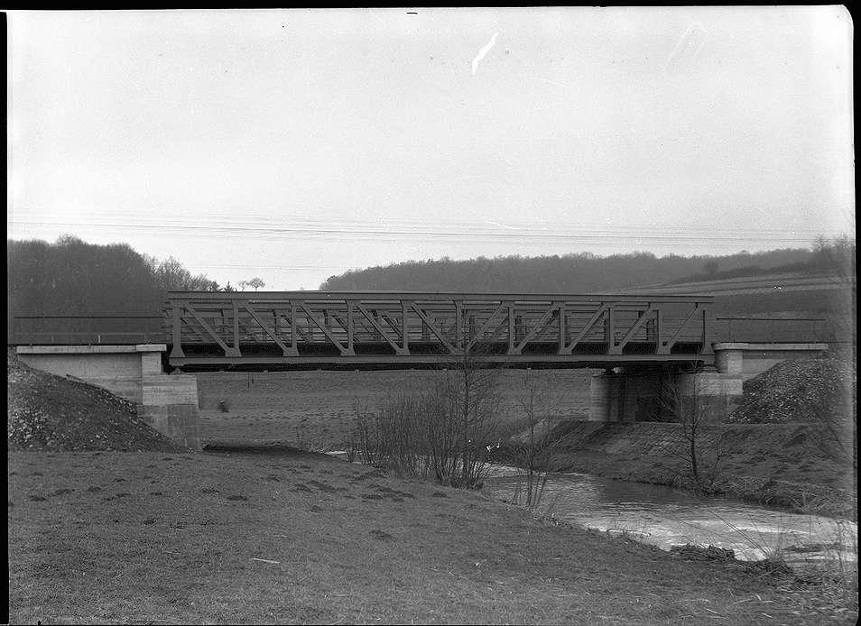 Adelsheim-Ost, Bahnbrücke Nr. 1357 bei Osterburken km 76+976, Abb. a