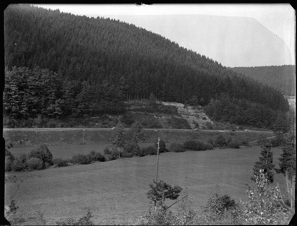 """Altensteig, Bf, Strecke Nagold-Altensteig, Hangrutschung (""""Wasserschäden""""), Bild 1"""