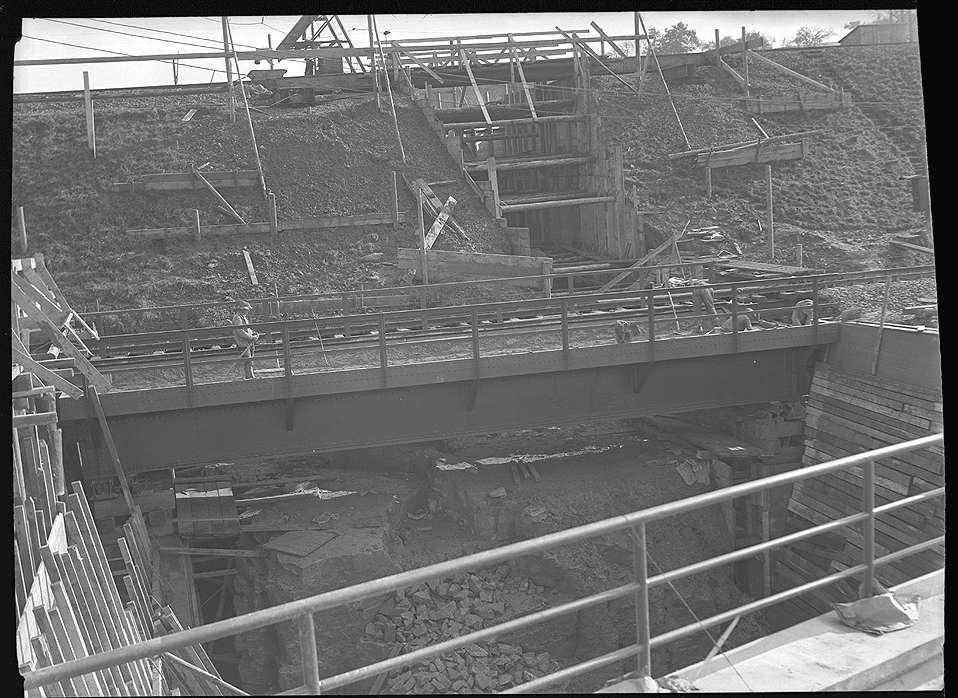 Backnang, Bau der Straßenunterführung (Maubach), Abb. c
