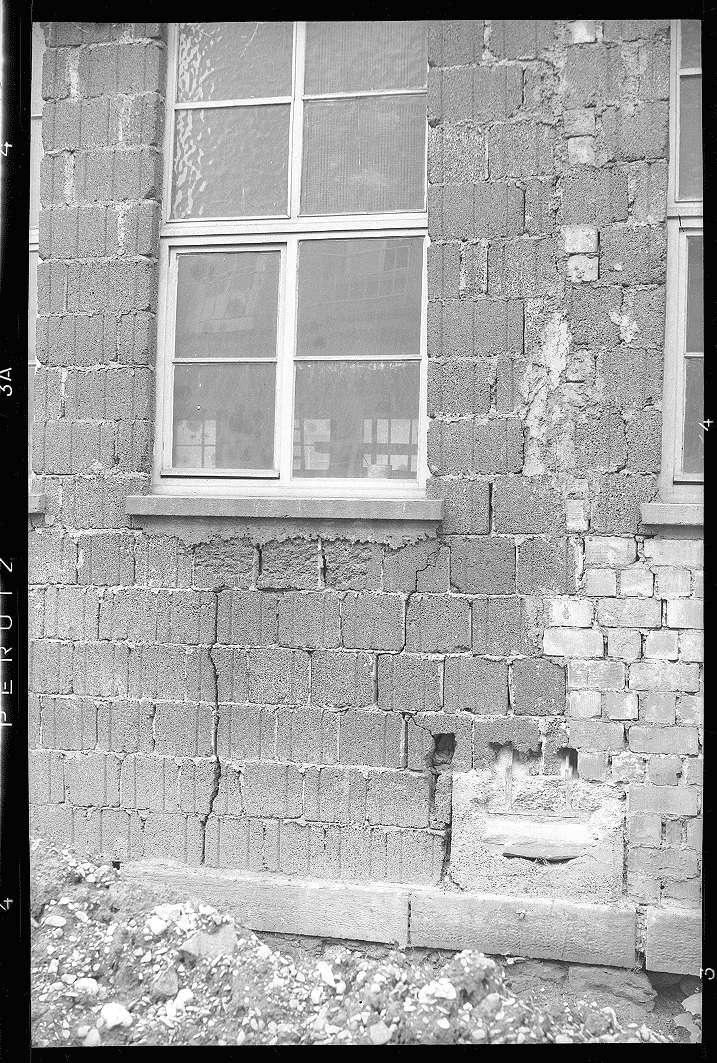 Bad Cannstatt, Ausbesserungswerk, beschädigtes Kantinengebäude, Abb. a
