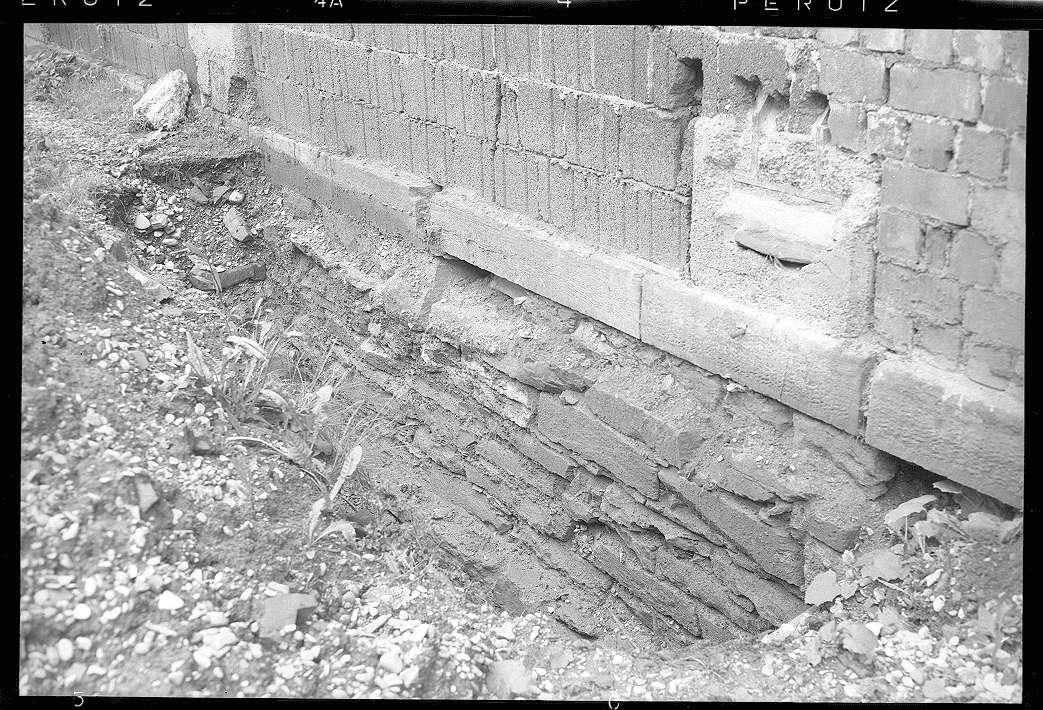 Bad Cannstatt, Ausbesserungswerk, beschädigtes Kantinengebäude, Abb. b