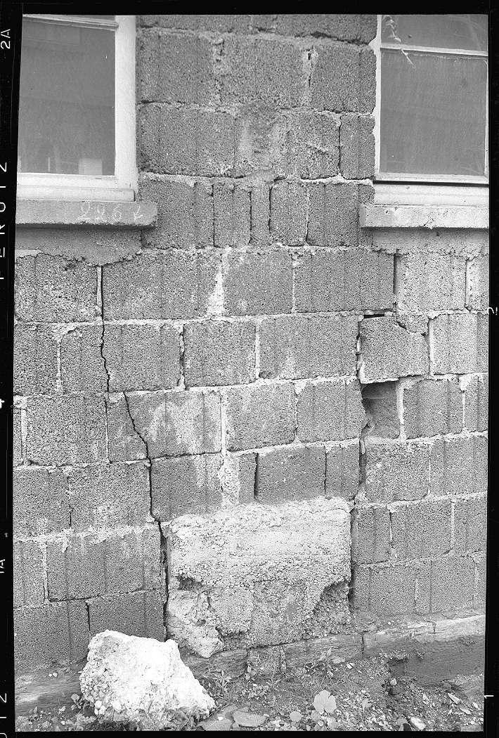 Bad Cannstatt, Ausbesserungswerk, beschädigtes Kantinengebäude, Abb. c