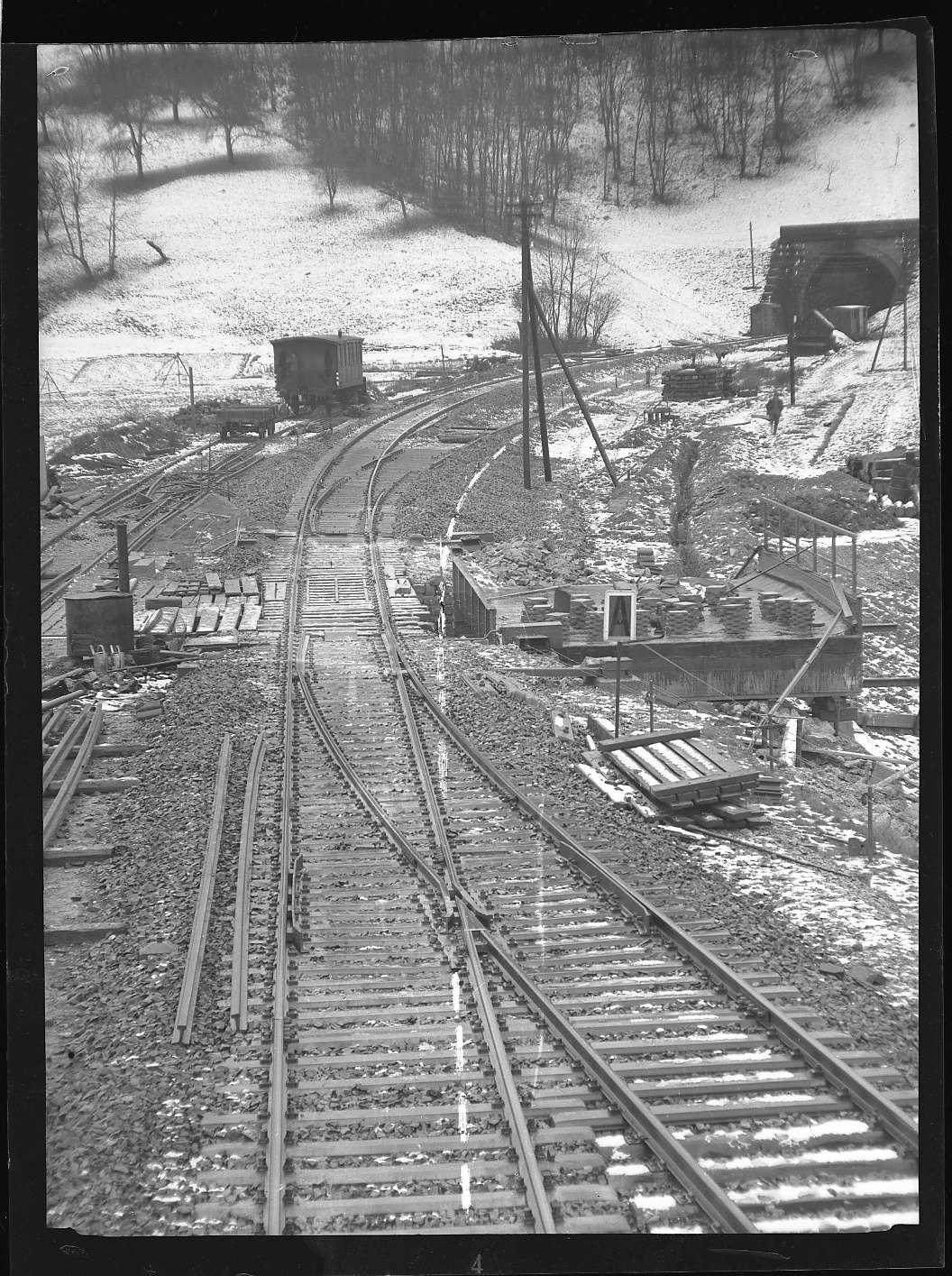 Gaildorf, Linienverbesserung beim Bf, Ausfahrt Richtung Käppelesbergtunnel, Abb. c