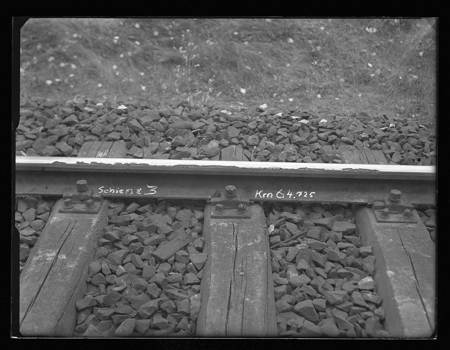 Geislingen an der Steige, Bf, Schienenbeschädigungen (km 62+040, 64+725), Abb. a