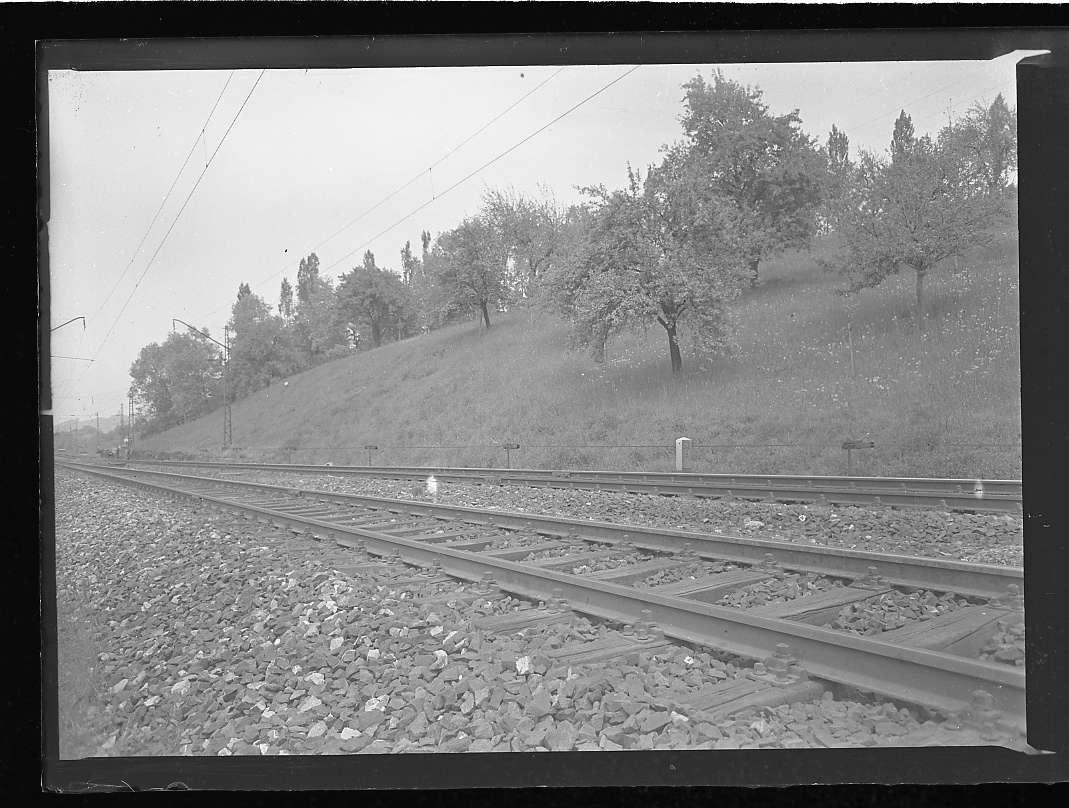 Geislingen-West, Bf, Strecke Stuttgart-Ulm, Gingen an der Fils bis Geislingen-West: Erdbewegung, Abb. a