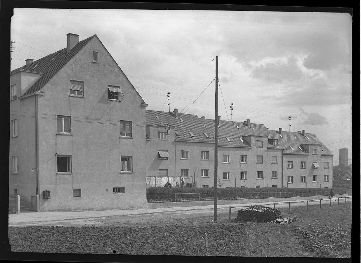 Kornwestheim, Wohnsiedlung für Bahnbedienstete, Abb. a