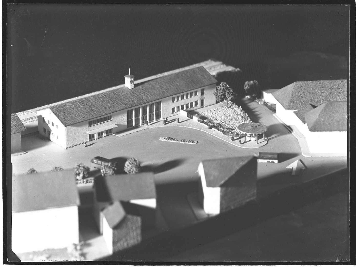 Lauffen am Neckar, Bf, Empfangsgebäude, Architekturmodell, Bild 1