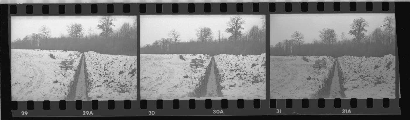 Mühlacker, Ziehen von Kabelgräben beim Unterwerk, Abb. c