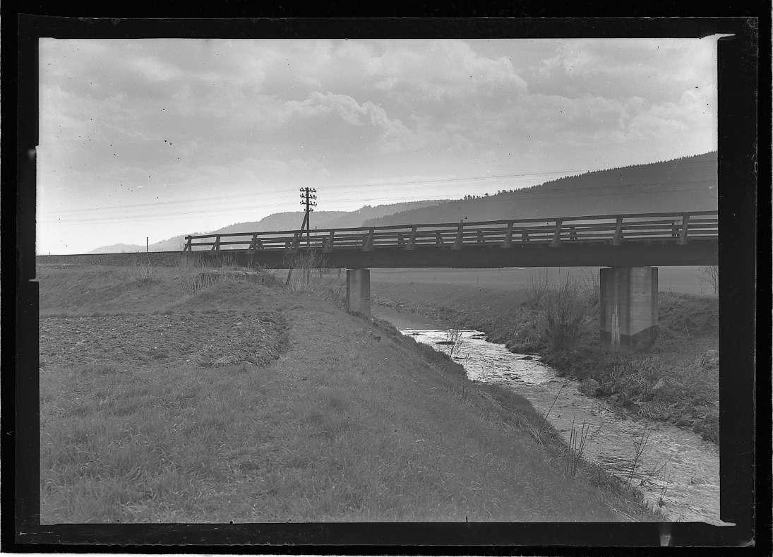 Murrhardt, Wiederaufbau der Bahnbrücke, Abb. a