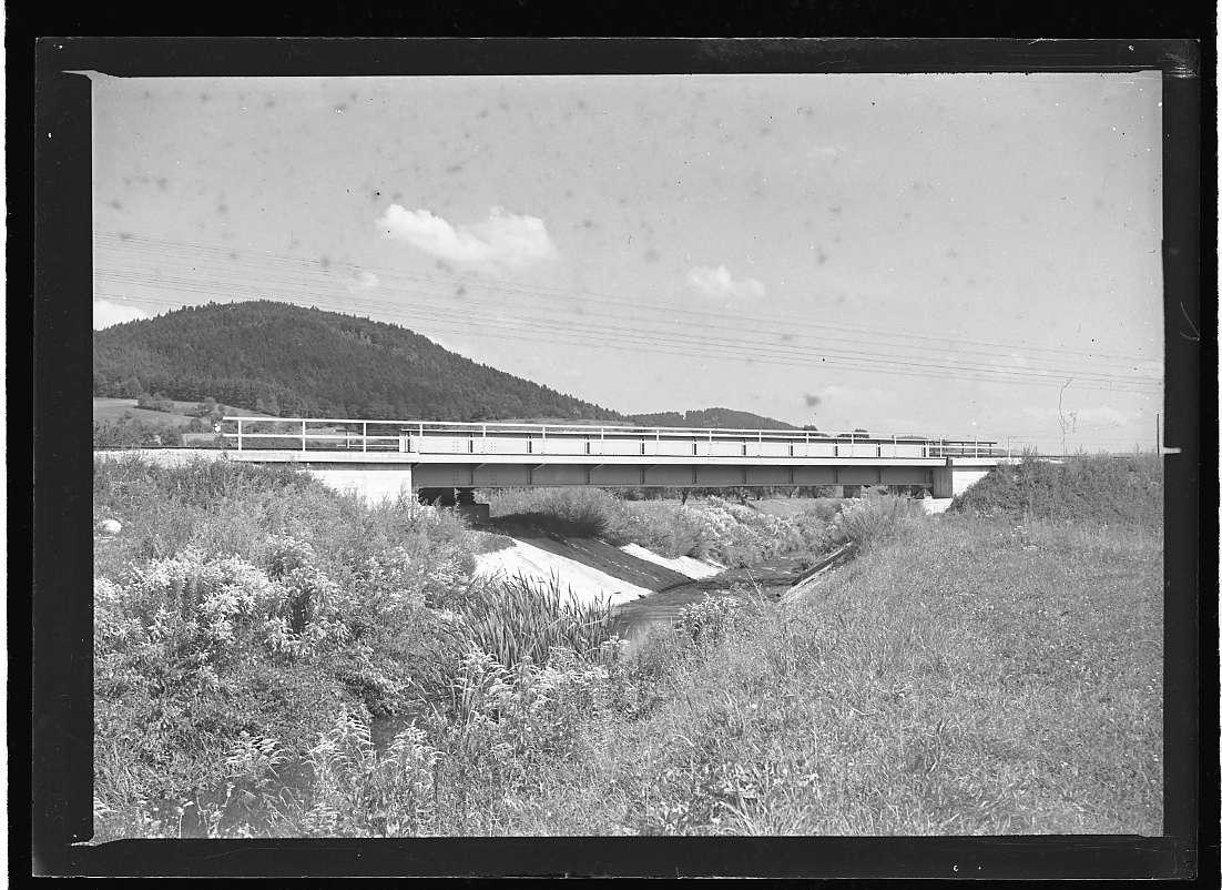 Murrhardt, Wiederaufbau der Bahnbrücke (fertiger Zustand), Abb. b