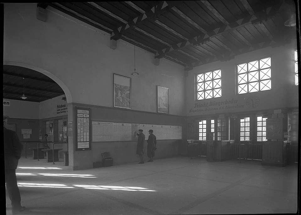 Ravensburg, Bf, Empfangsgebäude und -halle (Innenaufnahmen), Abb. b