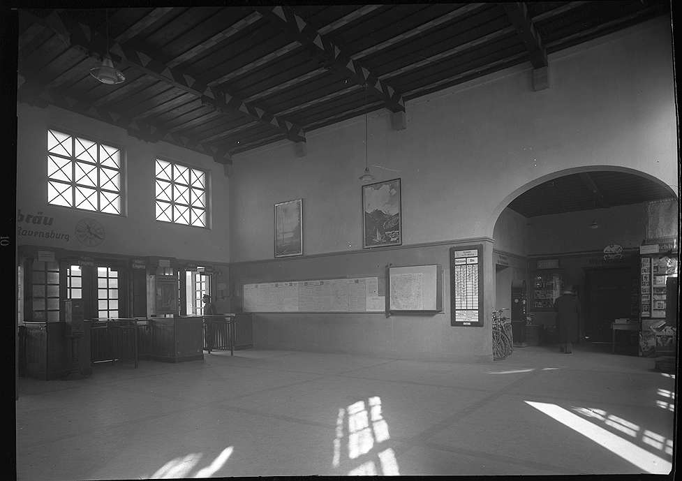 Ravensburg, Bf, Empfangsgebäude und -halle (Innenaufnahmen), Abb. c
