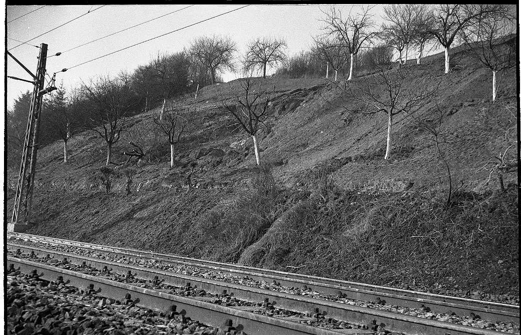 Reichenbach an der Fils, Beseitigung des Erdrutsches (Schutzwall für Schienensicherung), Abb. b