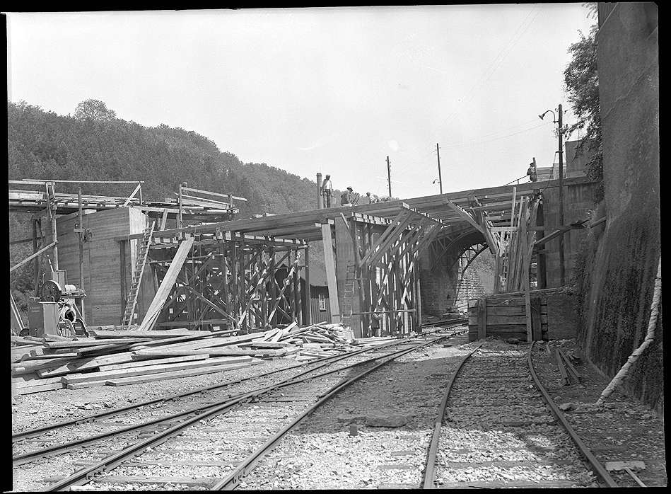 Rottweil, Bf, Bau der Straßenbrücke, Abb. a