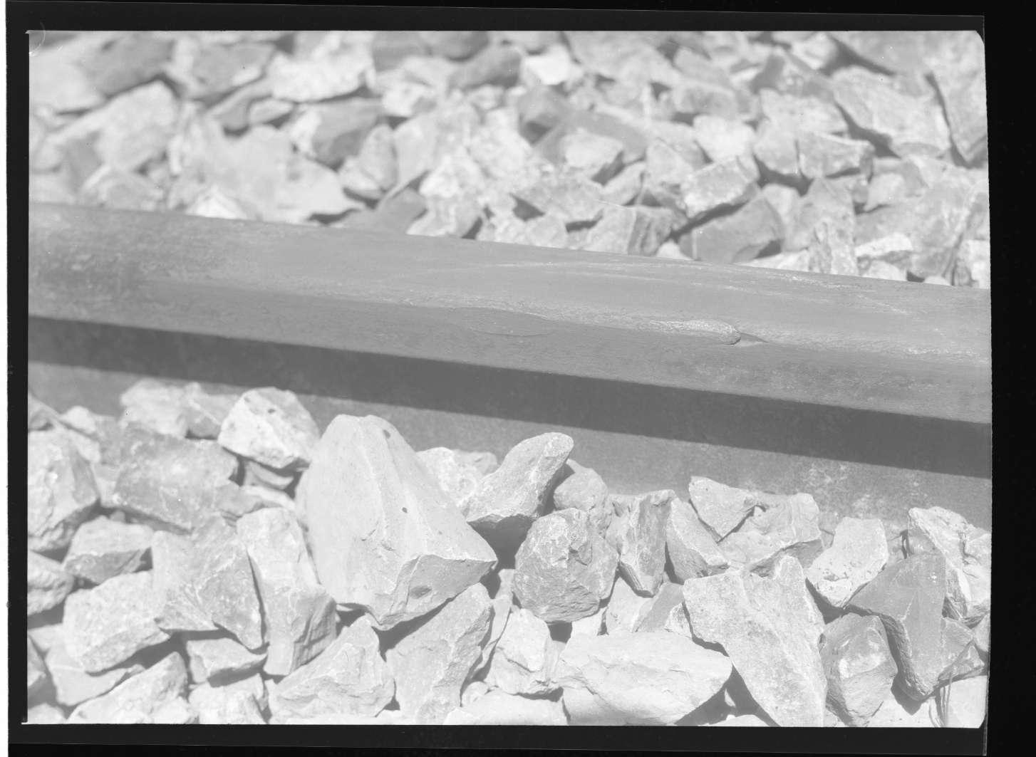"""Schwäbisch Gmünd, schadhafte Schienen bei Schwäbisch Gmünd (""""Österreich""""), Abb. b"""