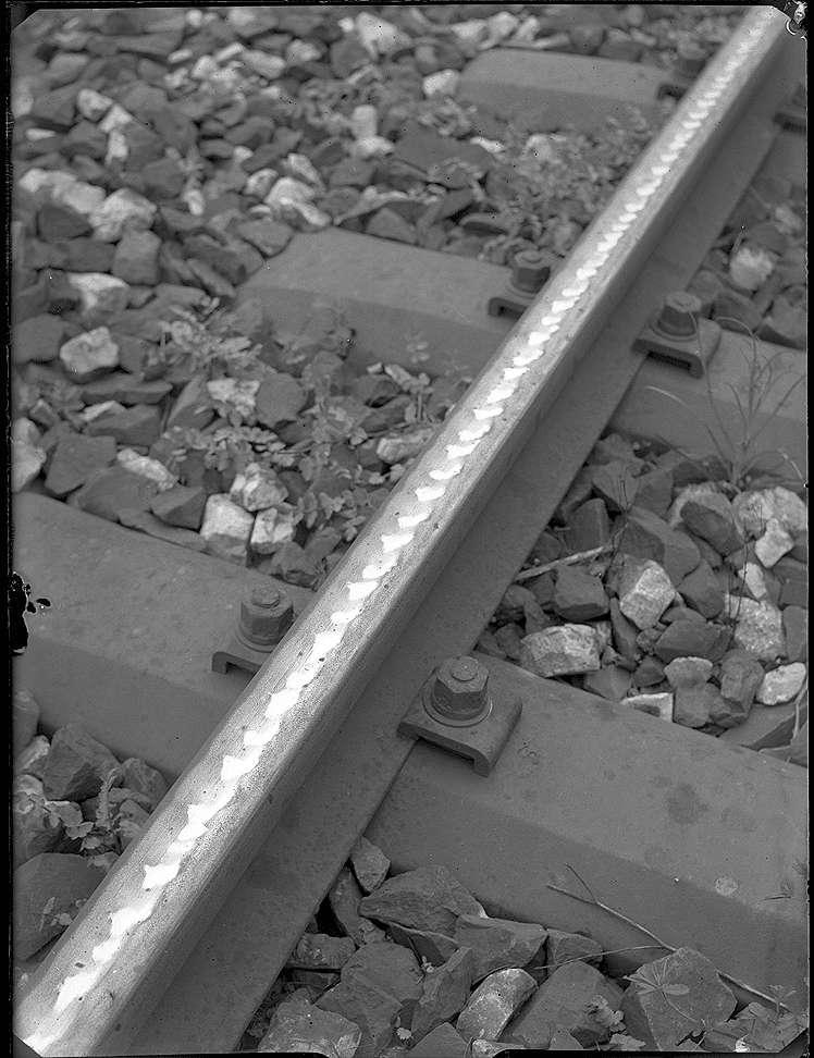 Stuttgart-Rohr, Strecke Böblingen-Stuttgart, zwischen Rohr und Böblingen, Riffelbildung, Bild 1