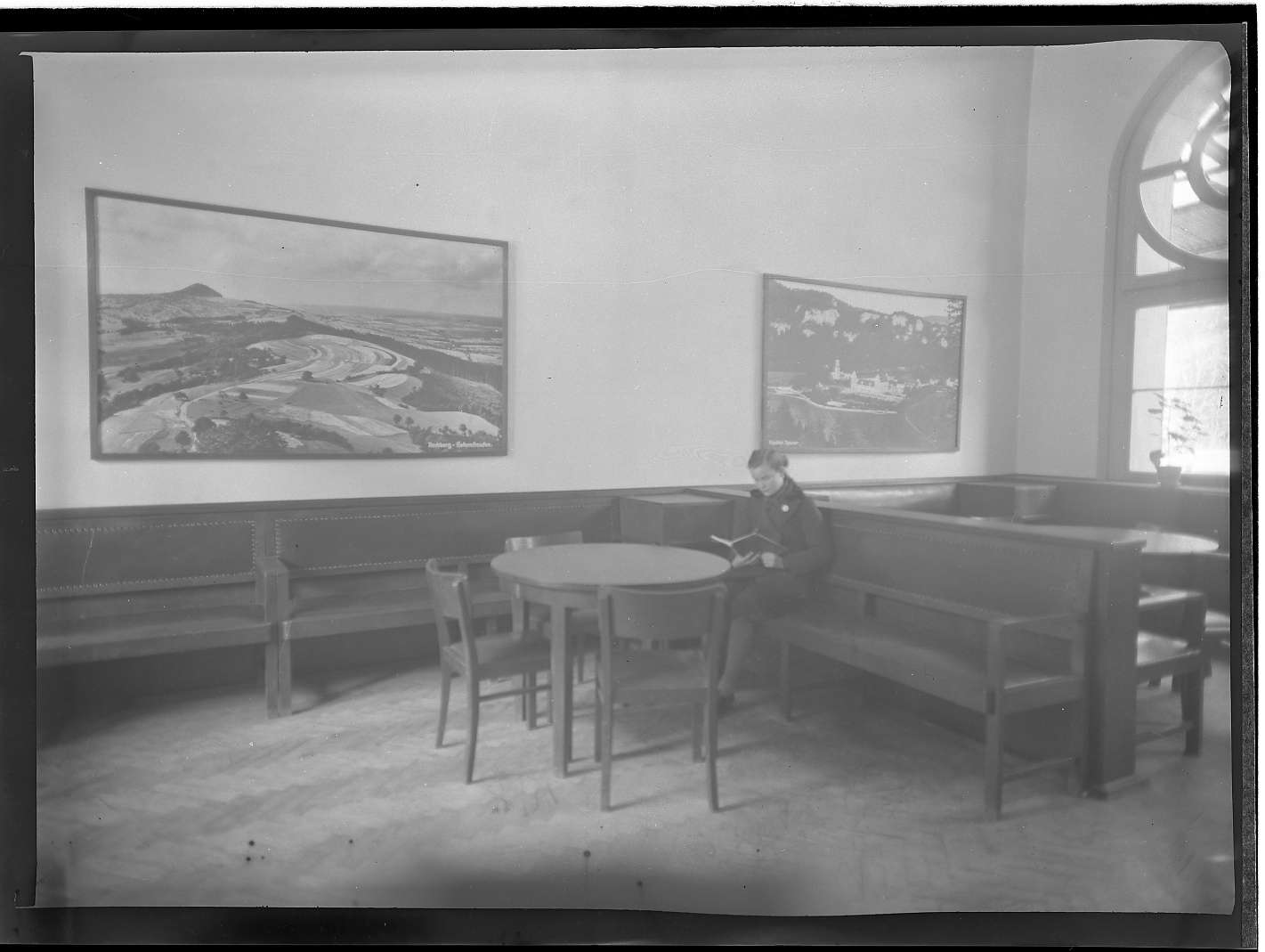 Wildbad, Bf, Gebäude innen alt, Wandbemalung (o.D. 1940); verschiedene Räume (13.11.1941), Abb. b