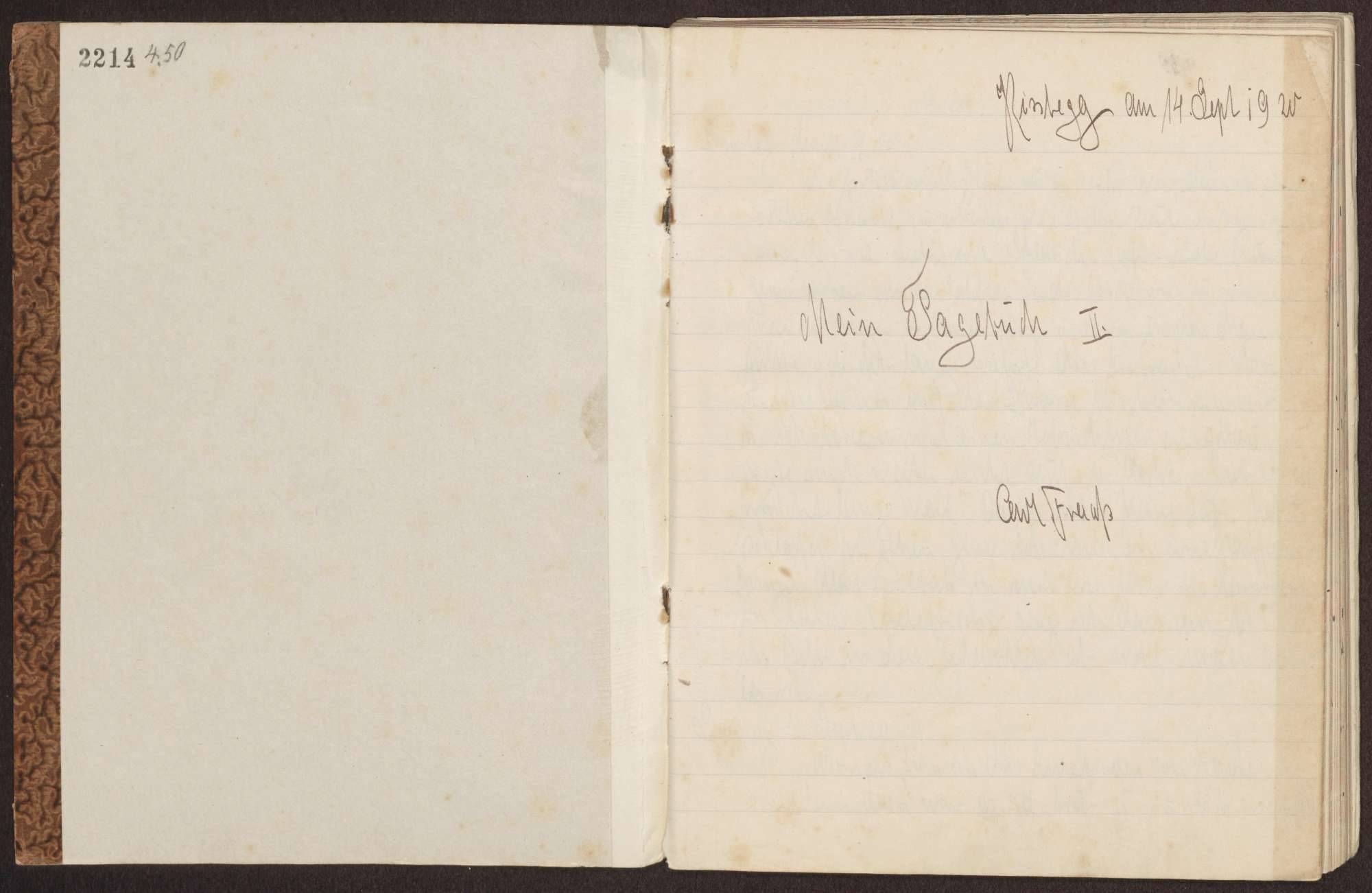 Tagebuch II, Bild 2