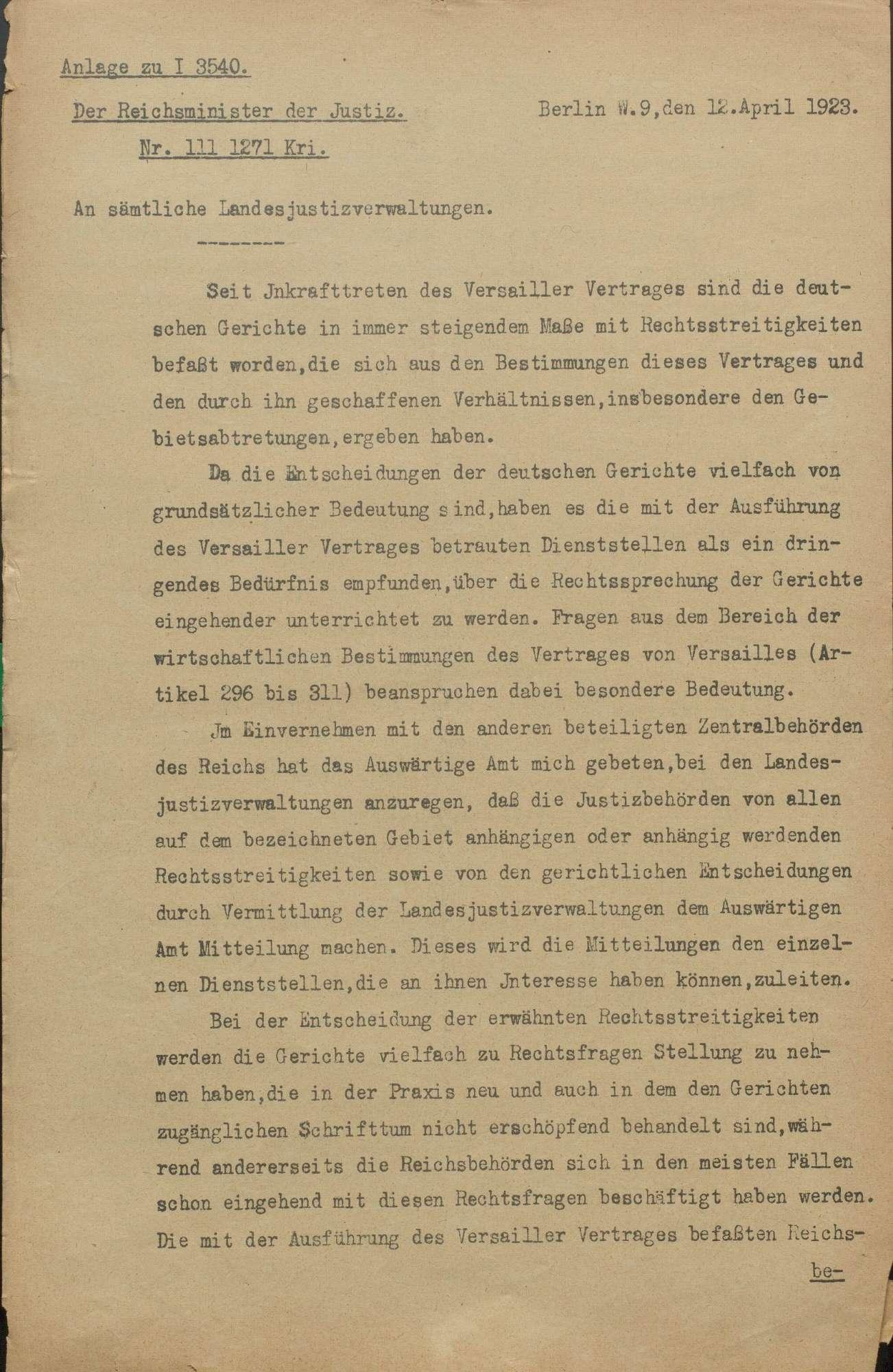 Ausführung des Friedensvertrages von Versailles, Bild 2