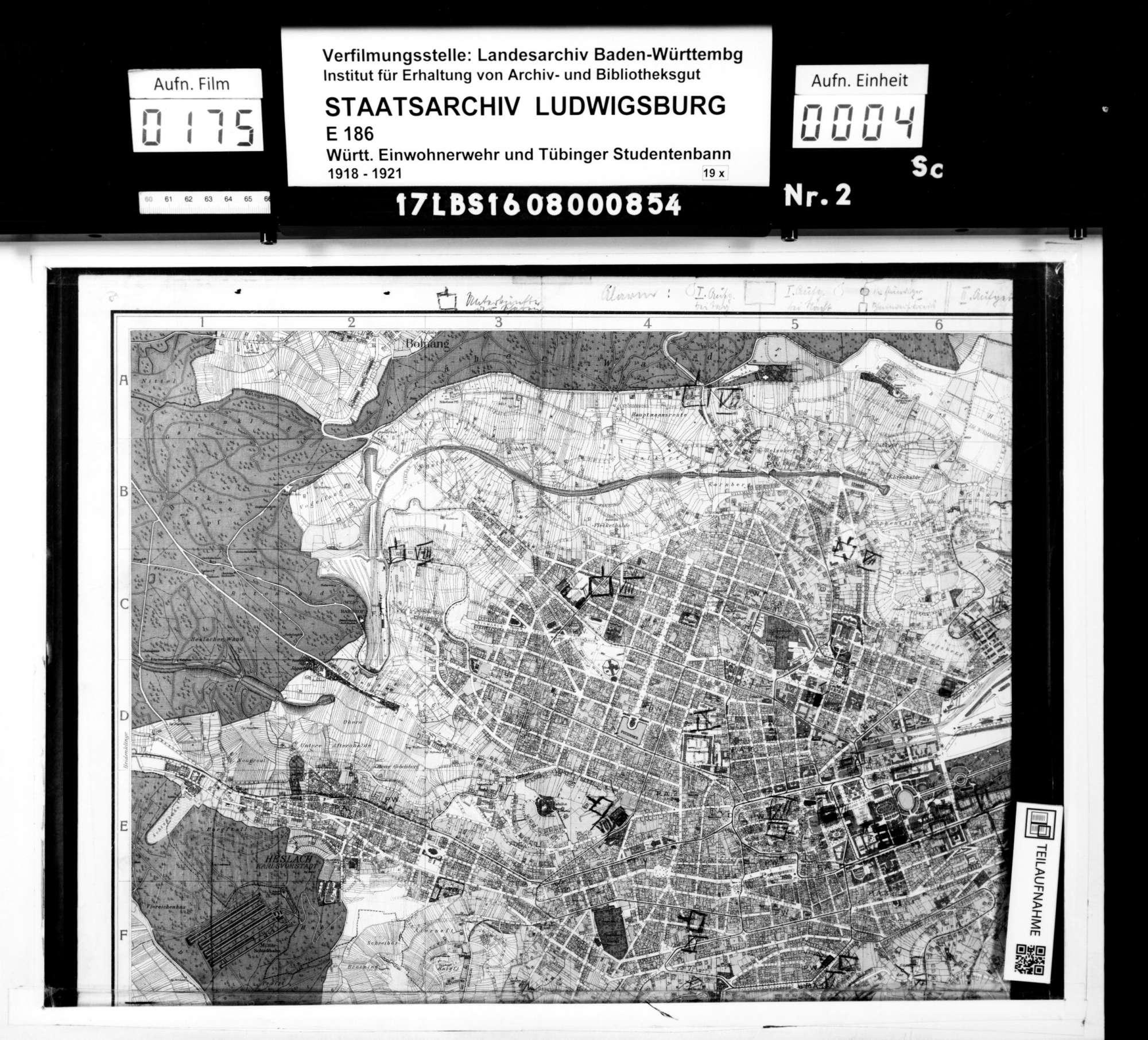 Pläne zum Alarmsystem der Einwohnerwehr Stuttgart, Bild 2