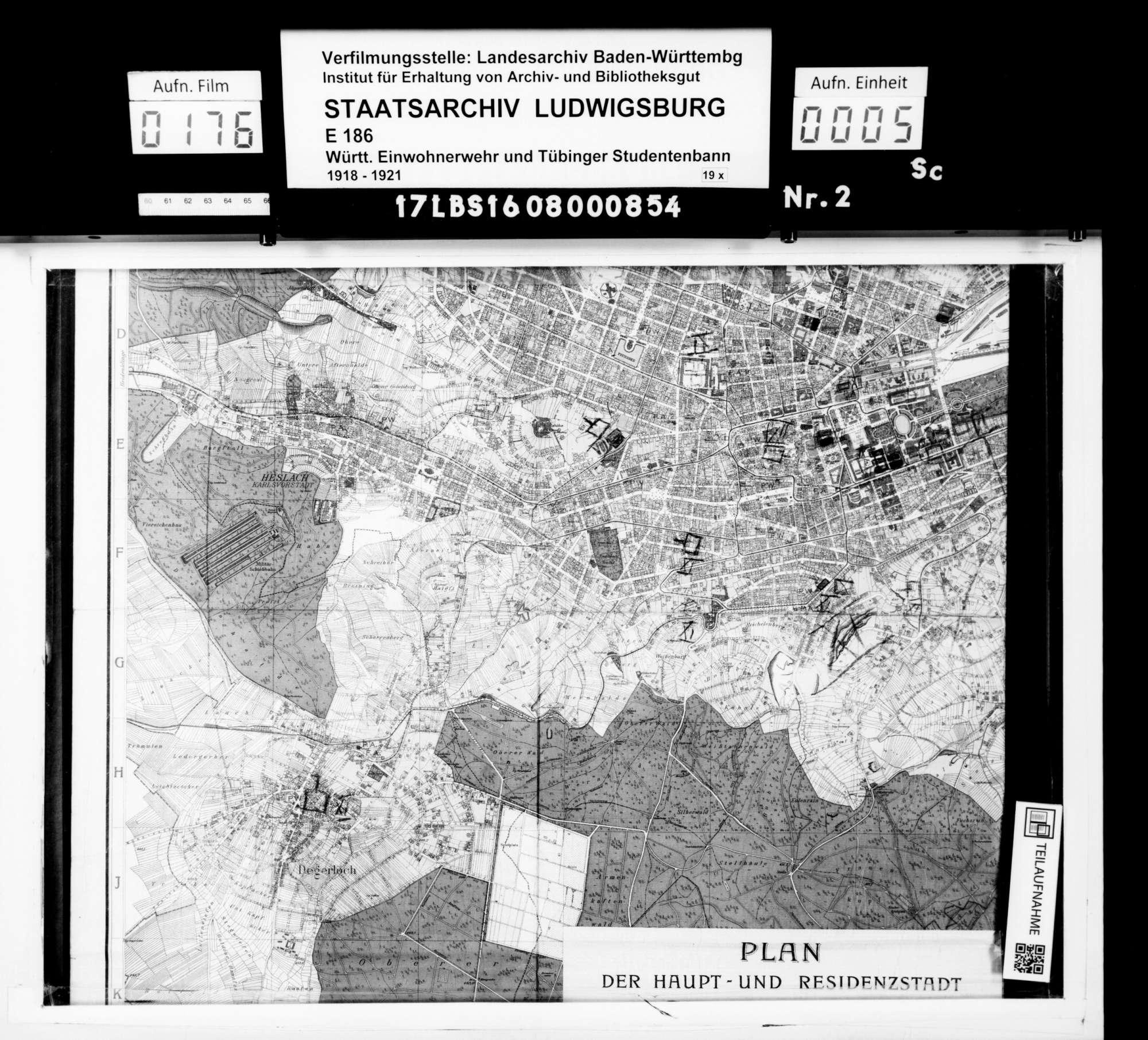 Pläne zum Alarmsystem der Einwohnerwehr Stuttgart, Bild 3