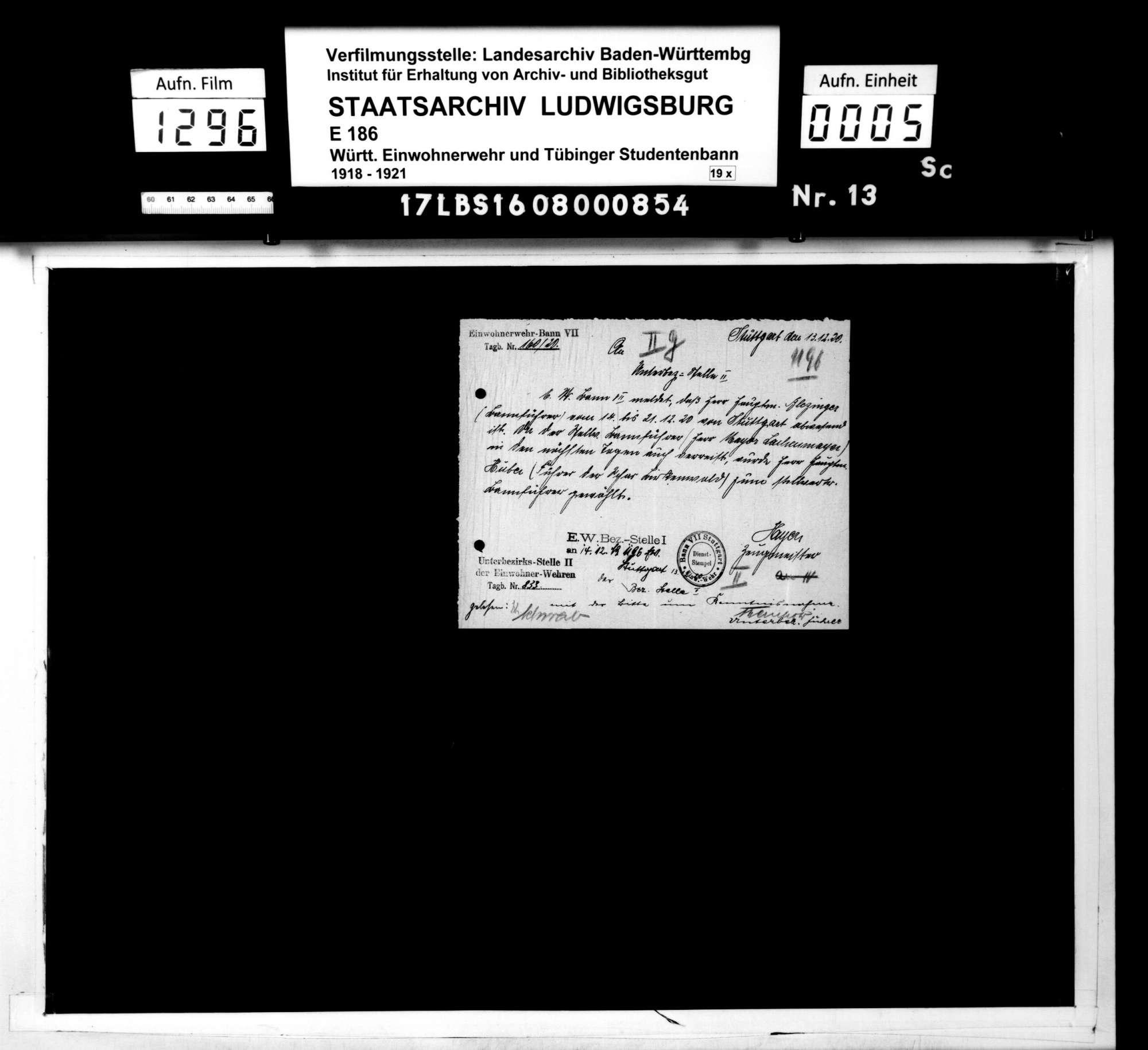 Stellenbesetzungen, Zeugmeister, Bild 2