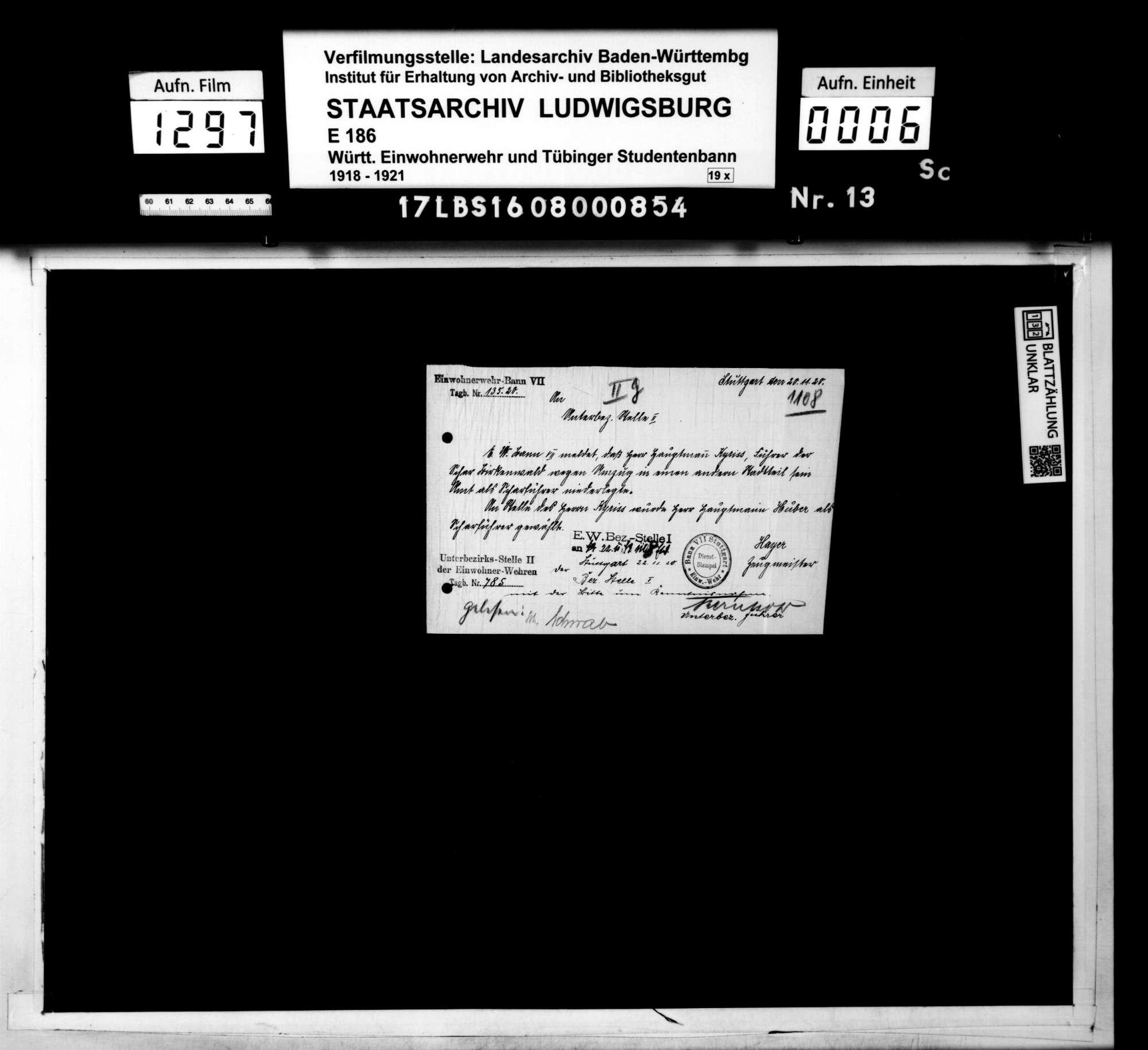 Stellenbesetzungen, Zeugmeister, Bild 3