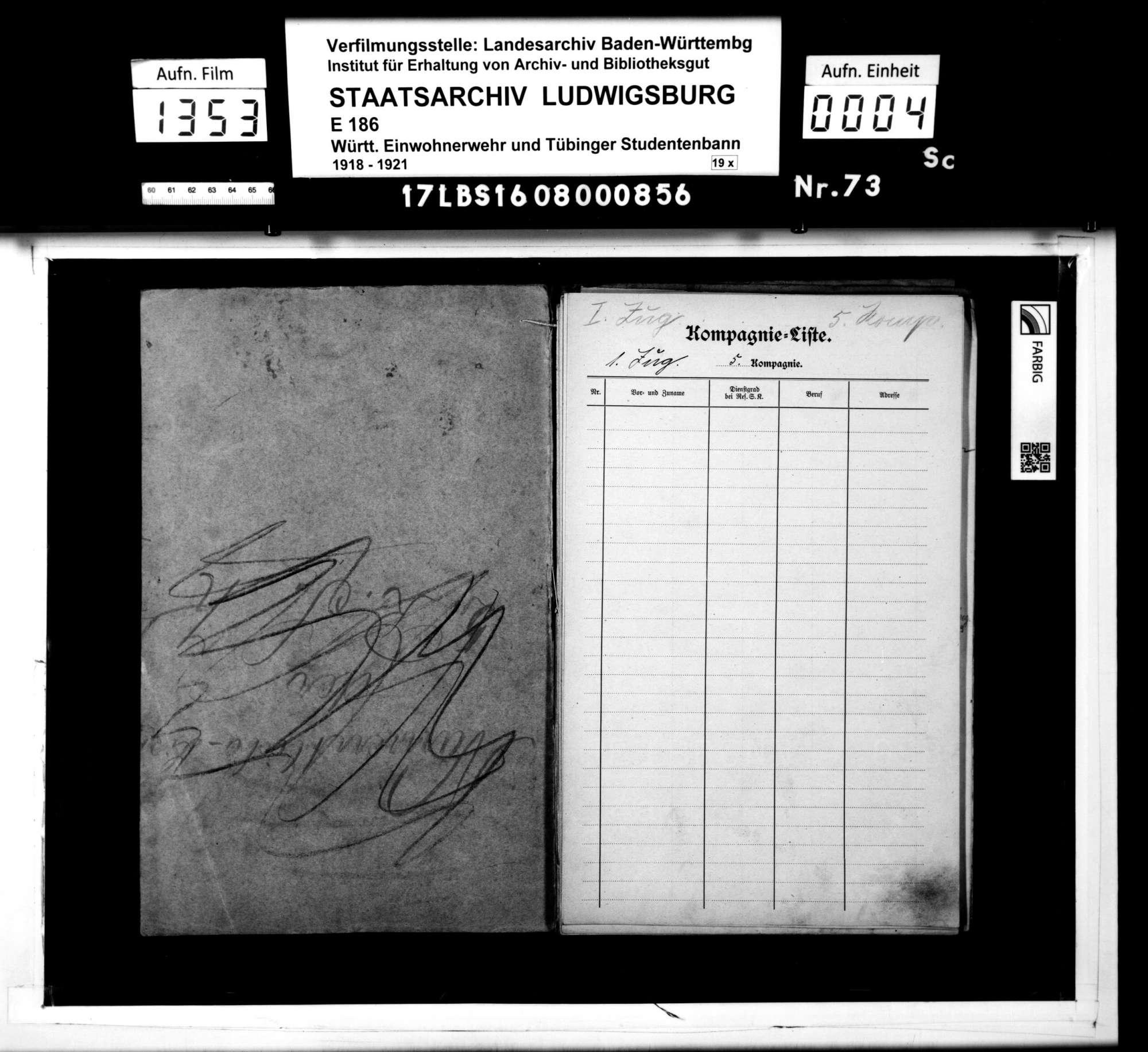 Kompanie-Liste der 5. Reserve-Sicherheits-Kompanie (Kompanieführer Keinert), Bild 1