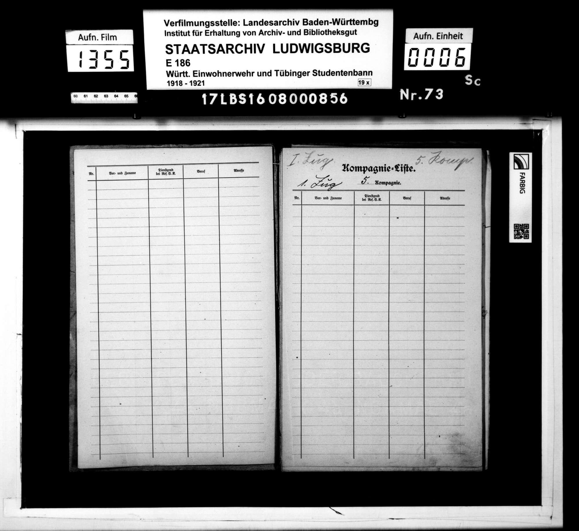Kompanie-Liste der 5. Reserve-Sicherheits-Kompanie (Kompanieführer Keinert), Bild 3