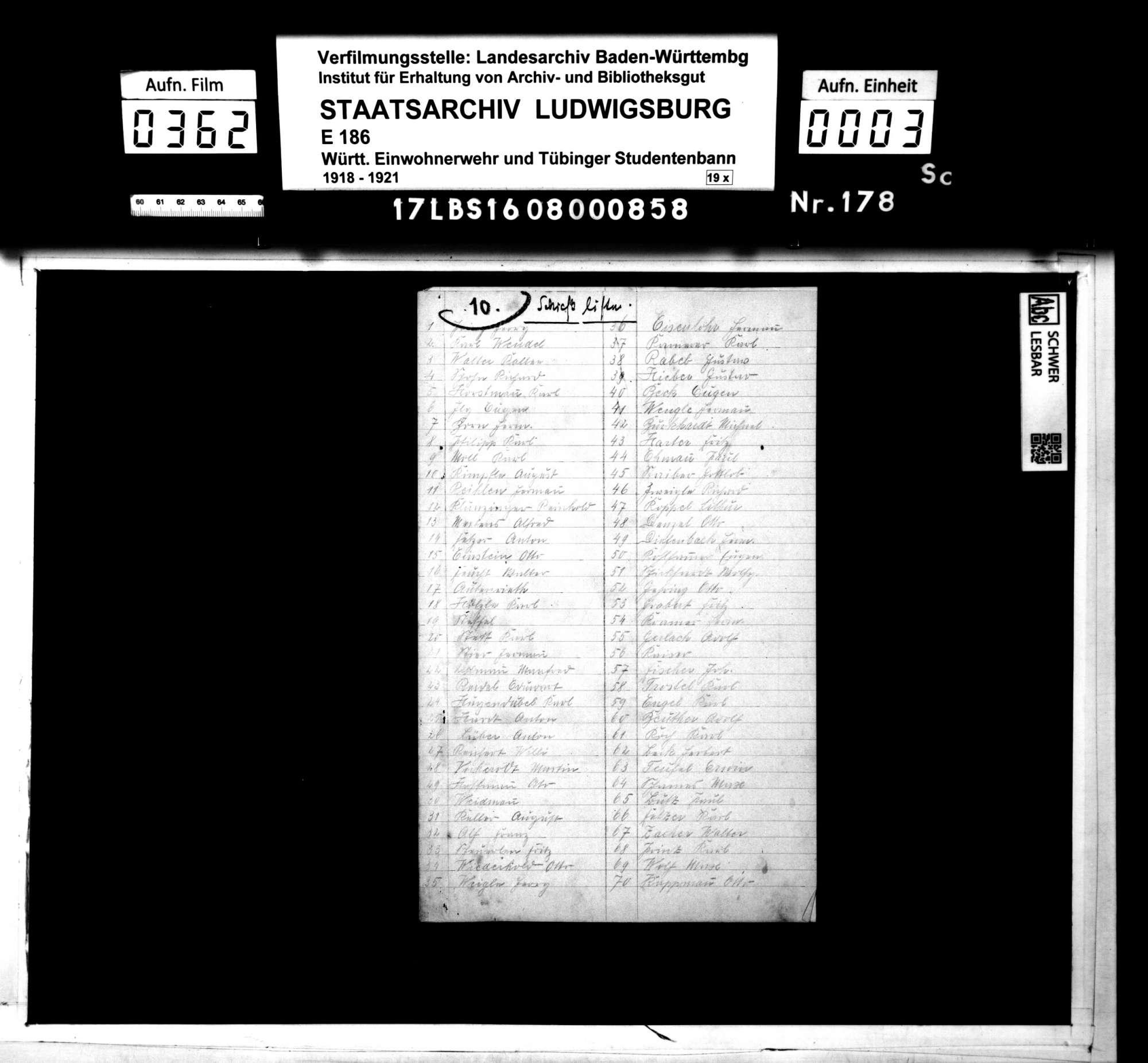 Schießliste, Bild 1