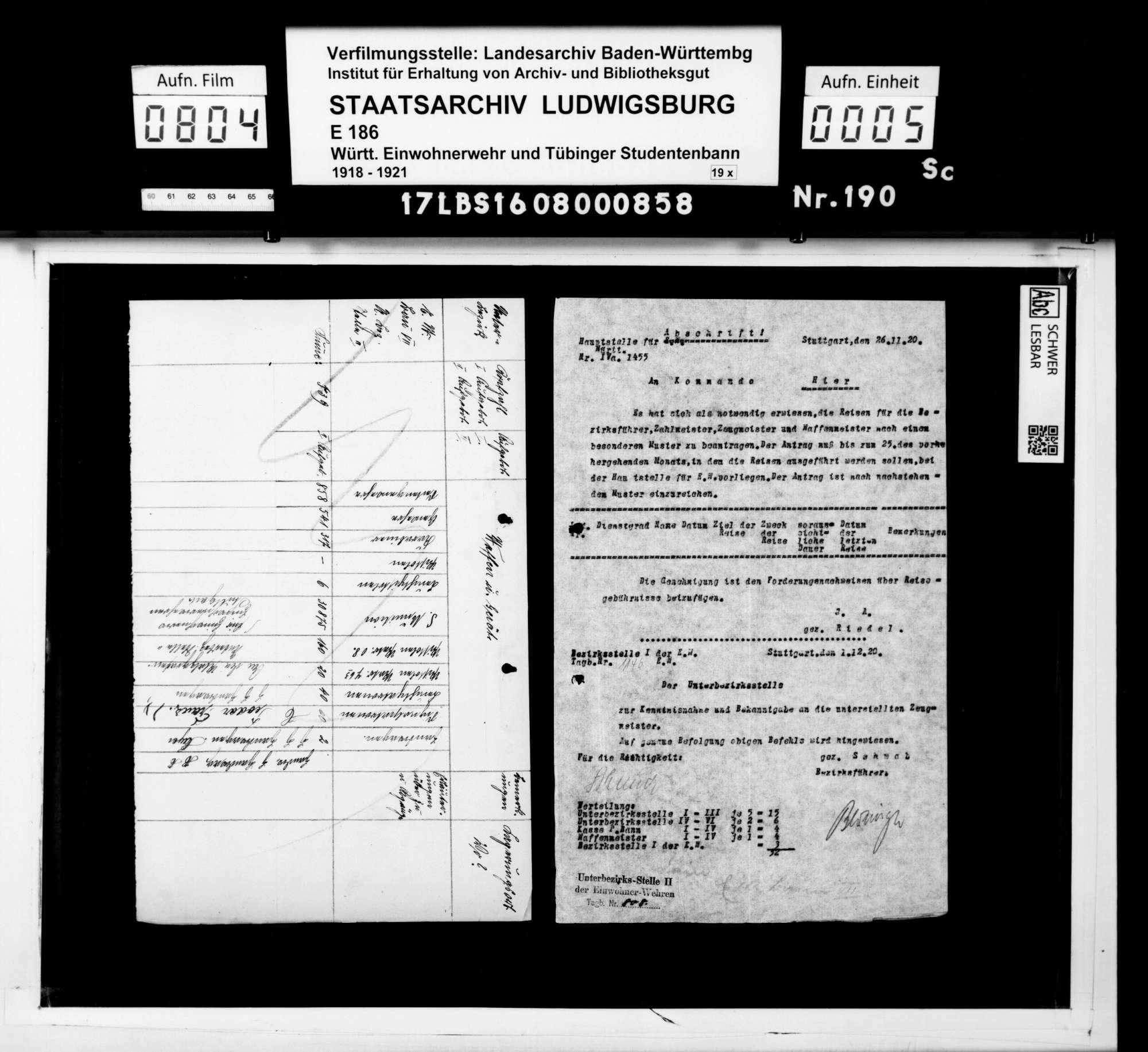 Anweisungen der Hauptstelle für Einwohnerwehren Württembergs, Bild 3