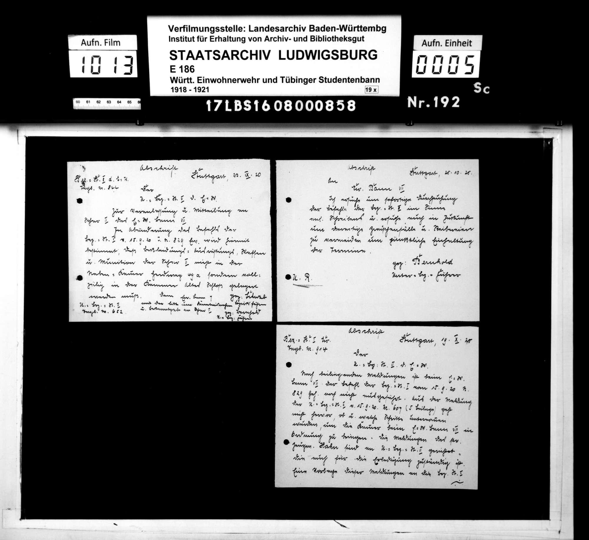 Befehle der Unterbezirksstelle 2 Stuttgart, Bild 3