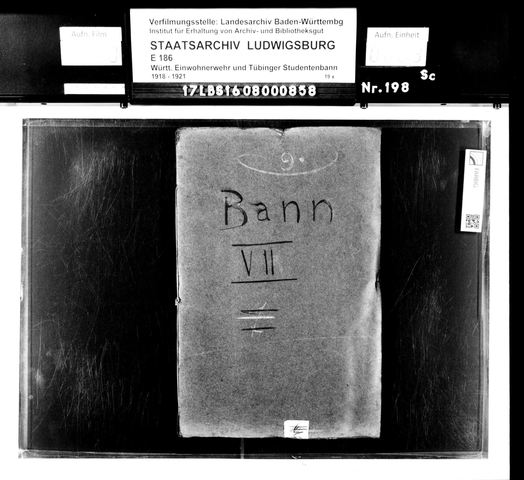 Alphabetische Namensliste für Bann 7, Bild 1