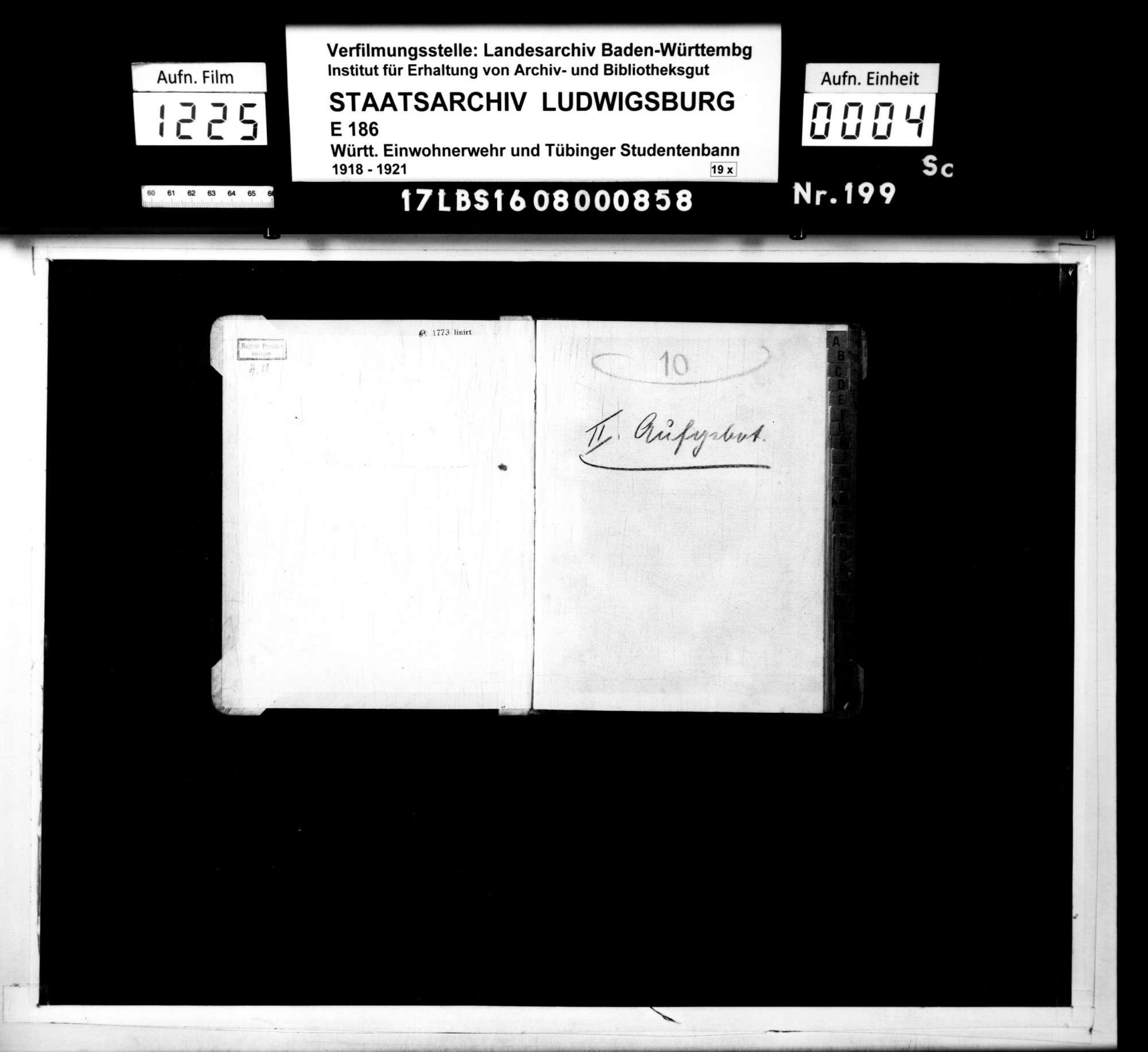 Alphabetisches Register für das 2. Aufgebot, Bild 2