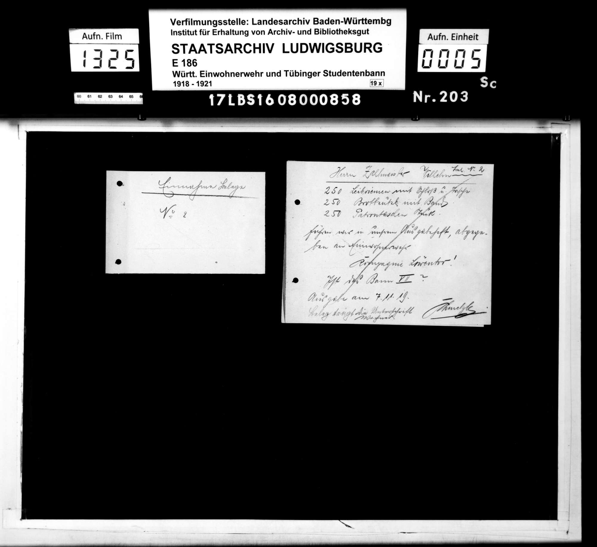 Einnahme- und Ausgabescheine für Material, Bild 3