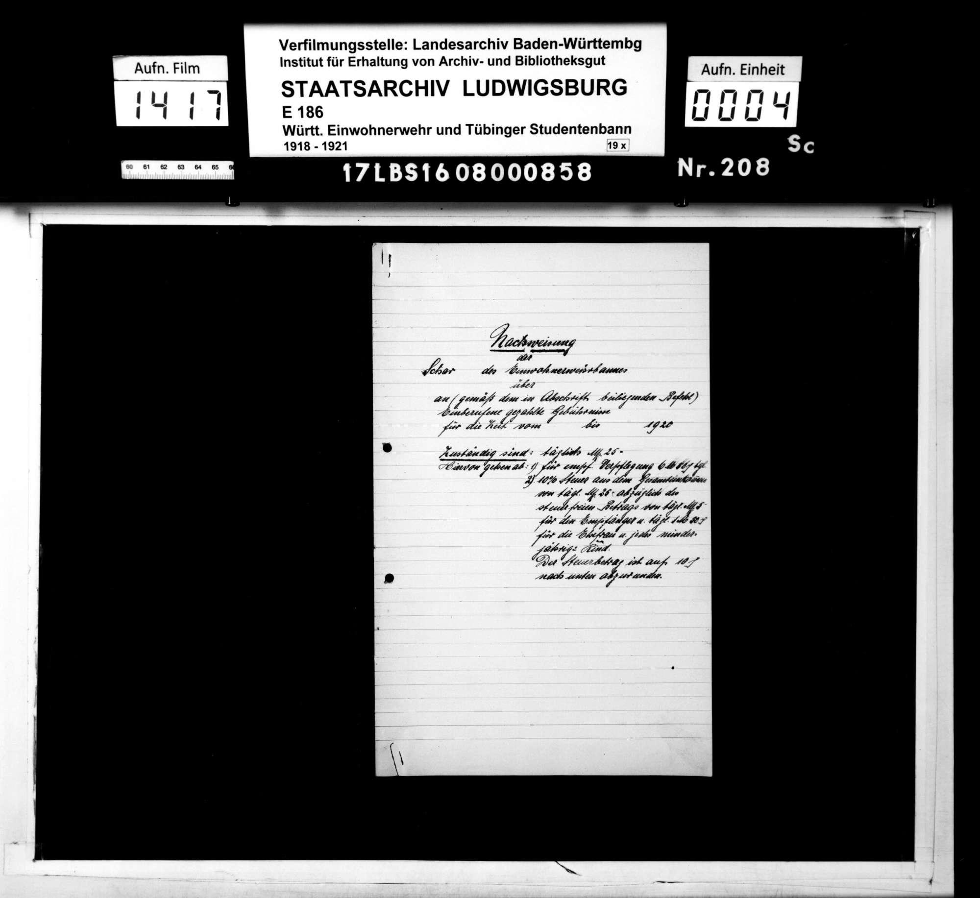 Material- und Zahlungsnachweise, Formulare zu Terminmeldungen, Bild 2