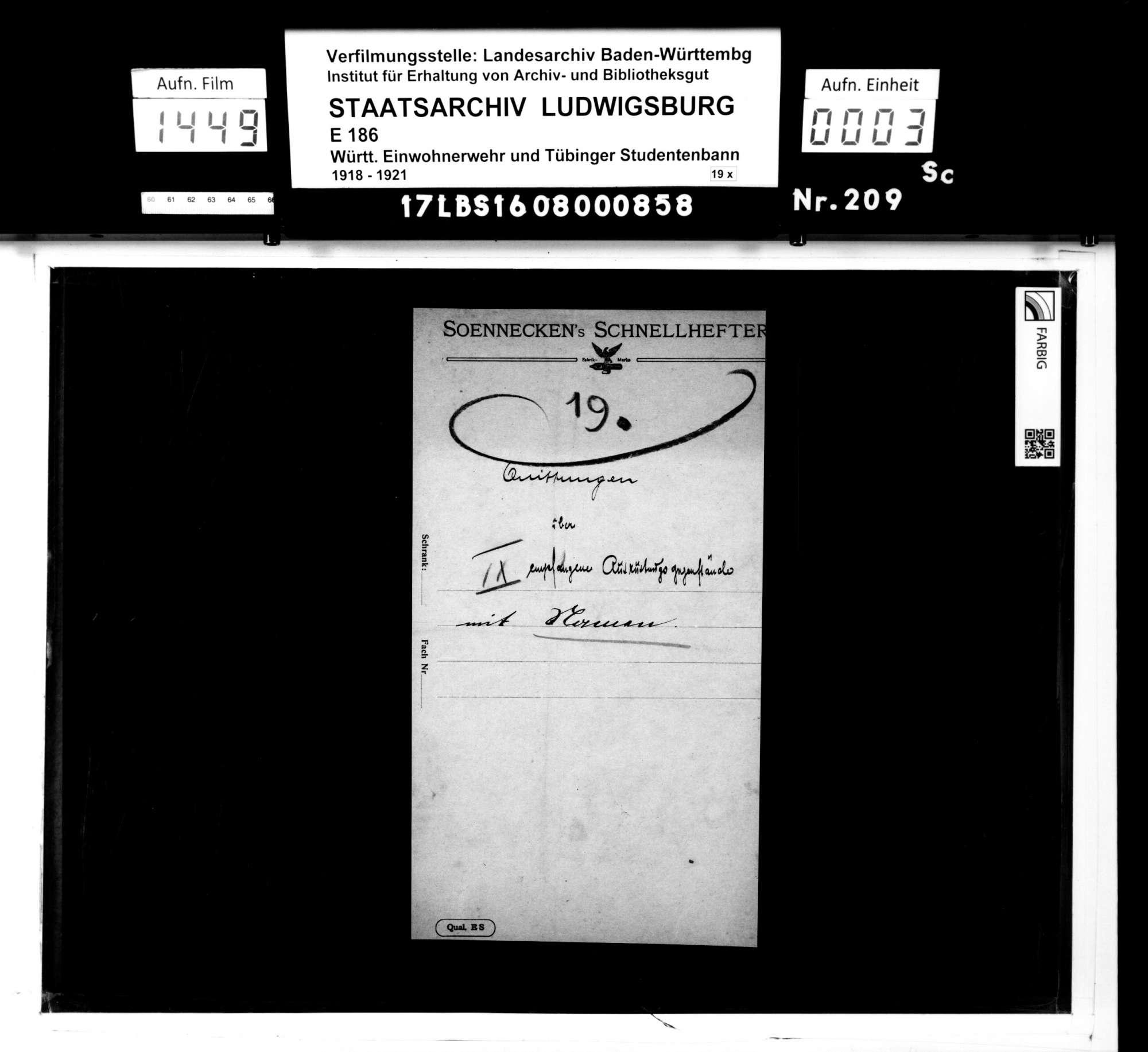 Bann 7/Schar 2 (Birkenwald): Namenslisten mit Materialausgabequittungen, Bild 1