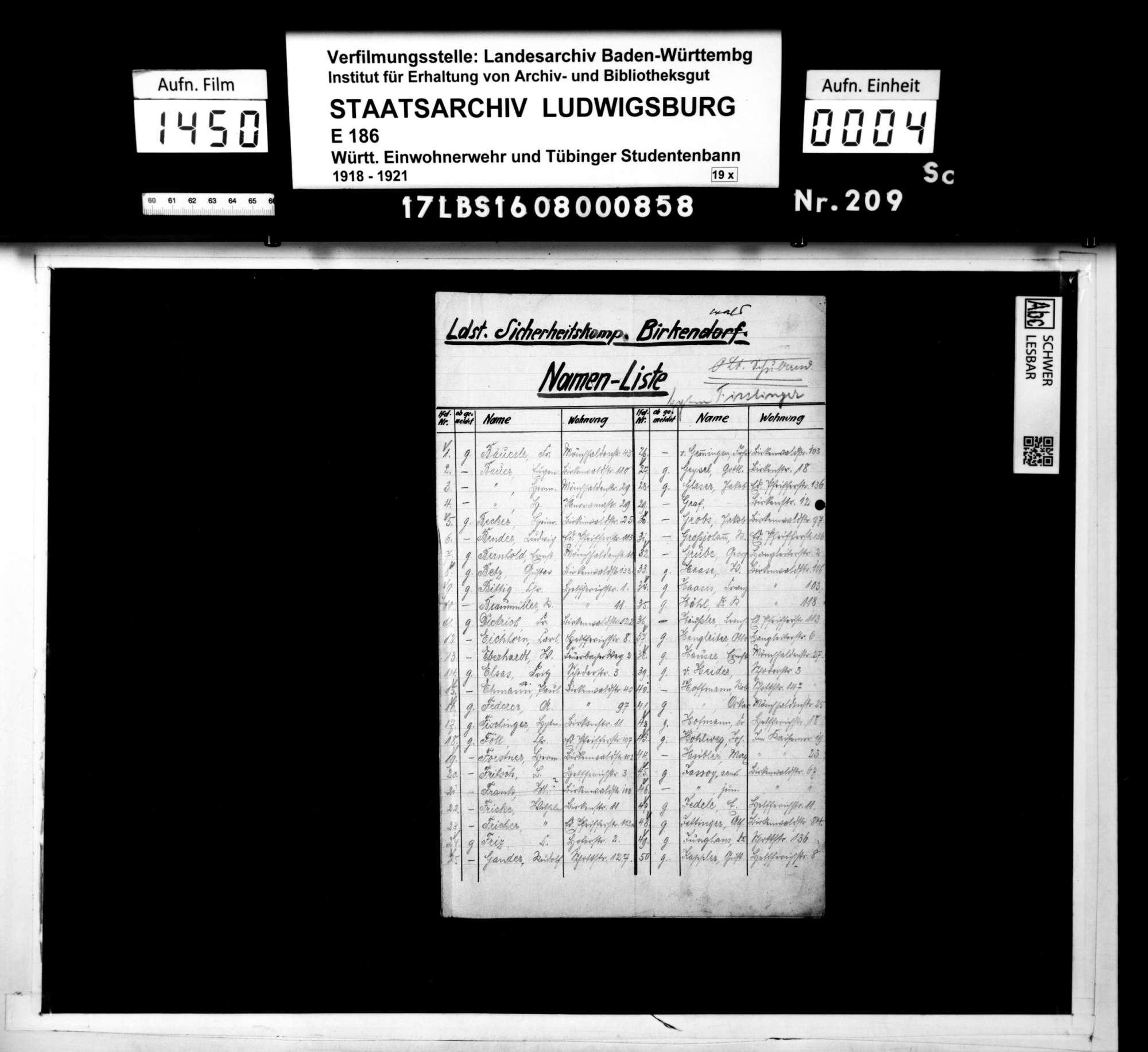 Bann 7/Schar 2 (Birkenwald): Namenslisten mit Materialausgabequittungen, Bild 2