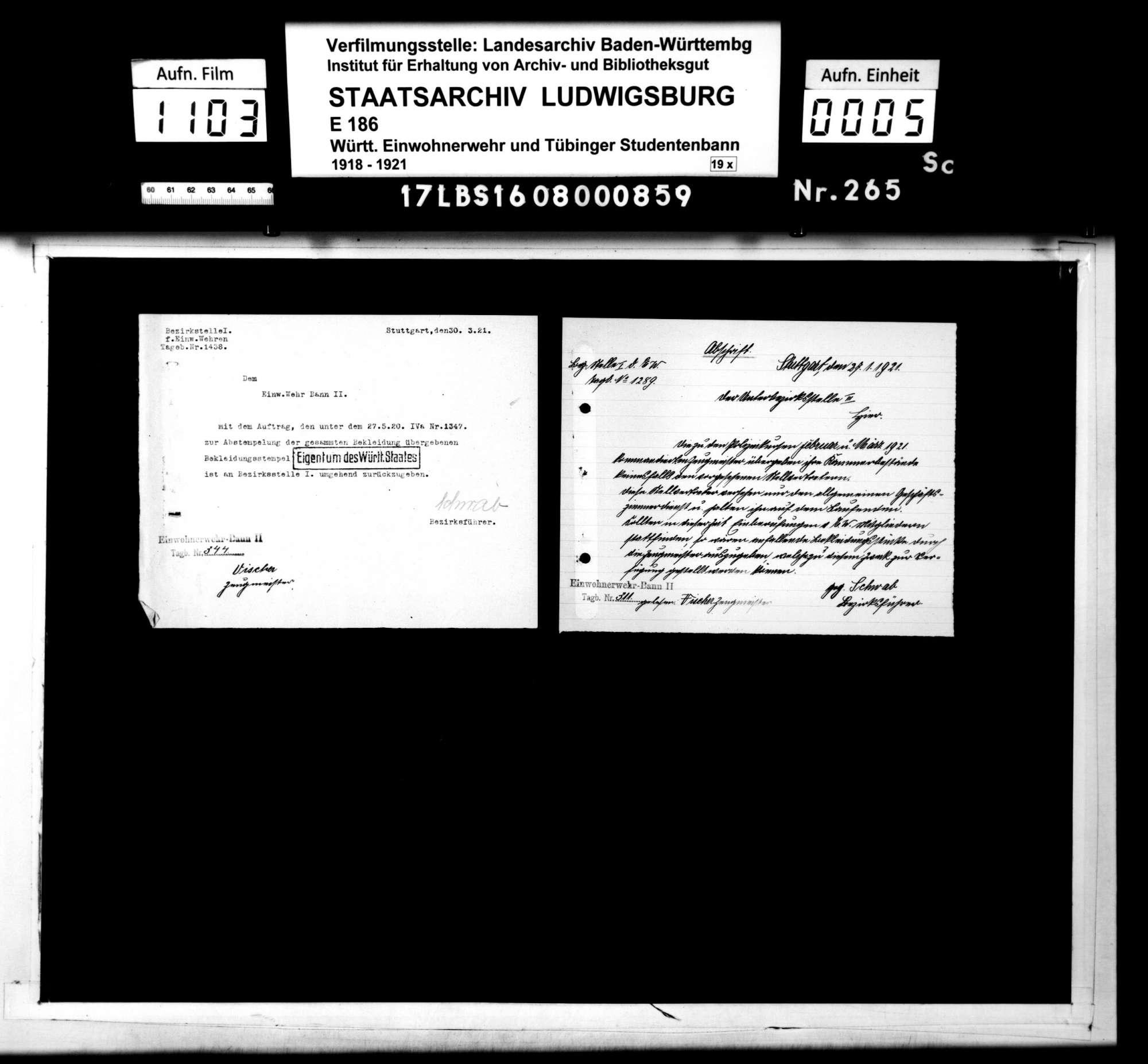 Mitteilungen und Tagesbefehle (Abschriften), Bild 3