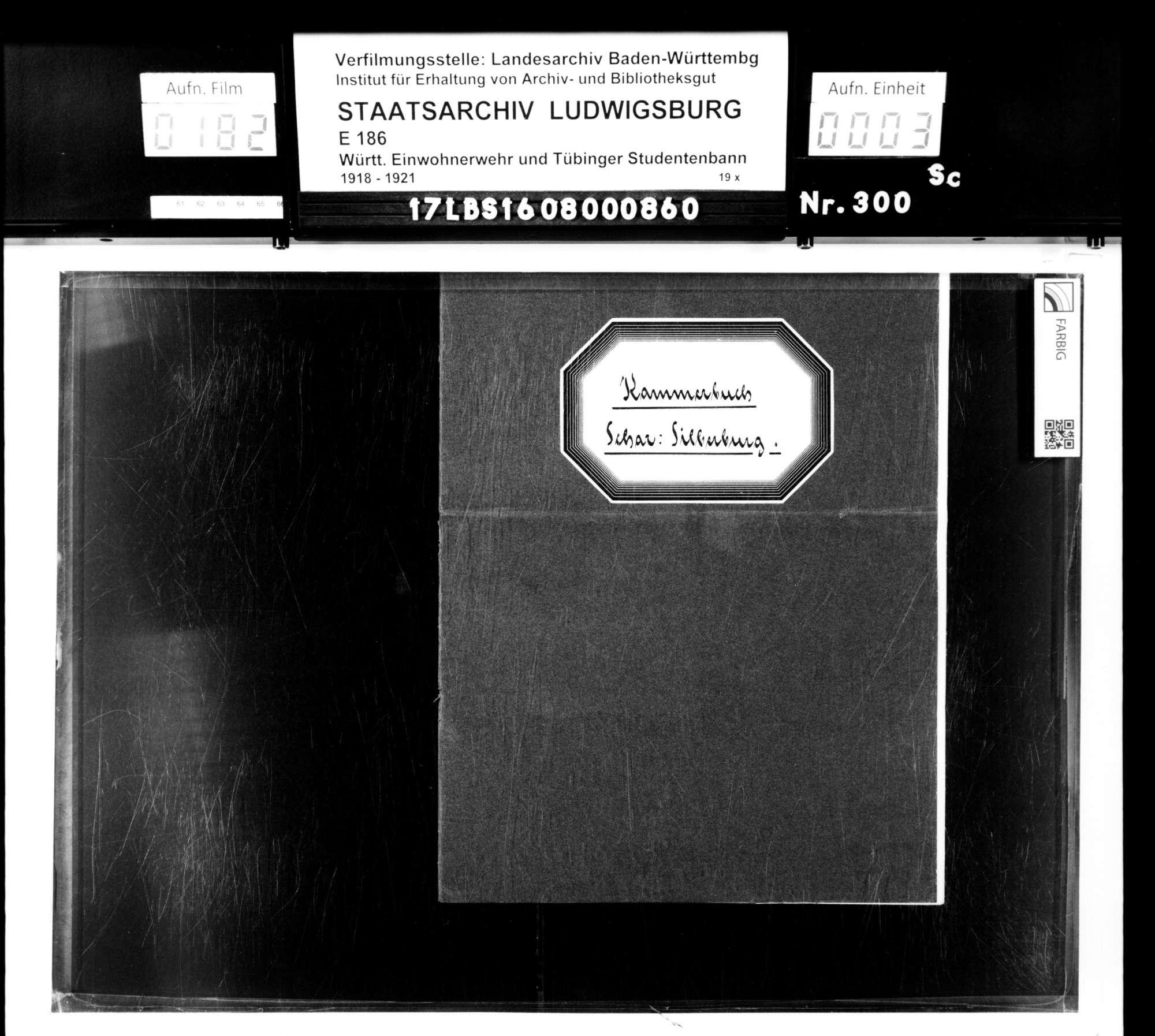 Bann 8/Schar Silberburg: Kammerbuch, Bild 1