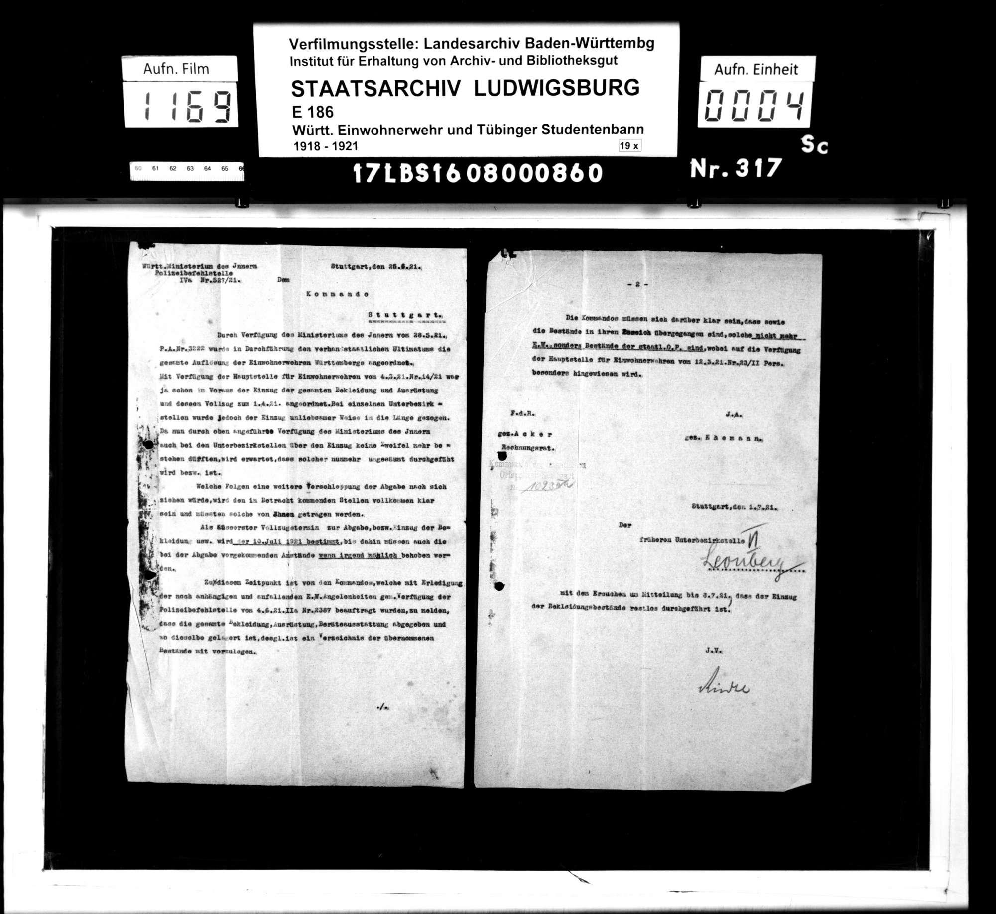 Unterbezirksstelle 6: Vermischte Unterlagen, Bild 2