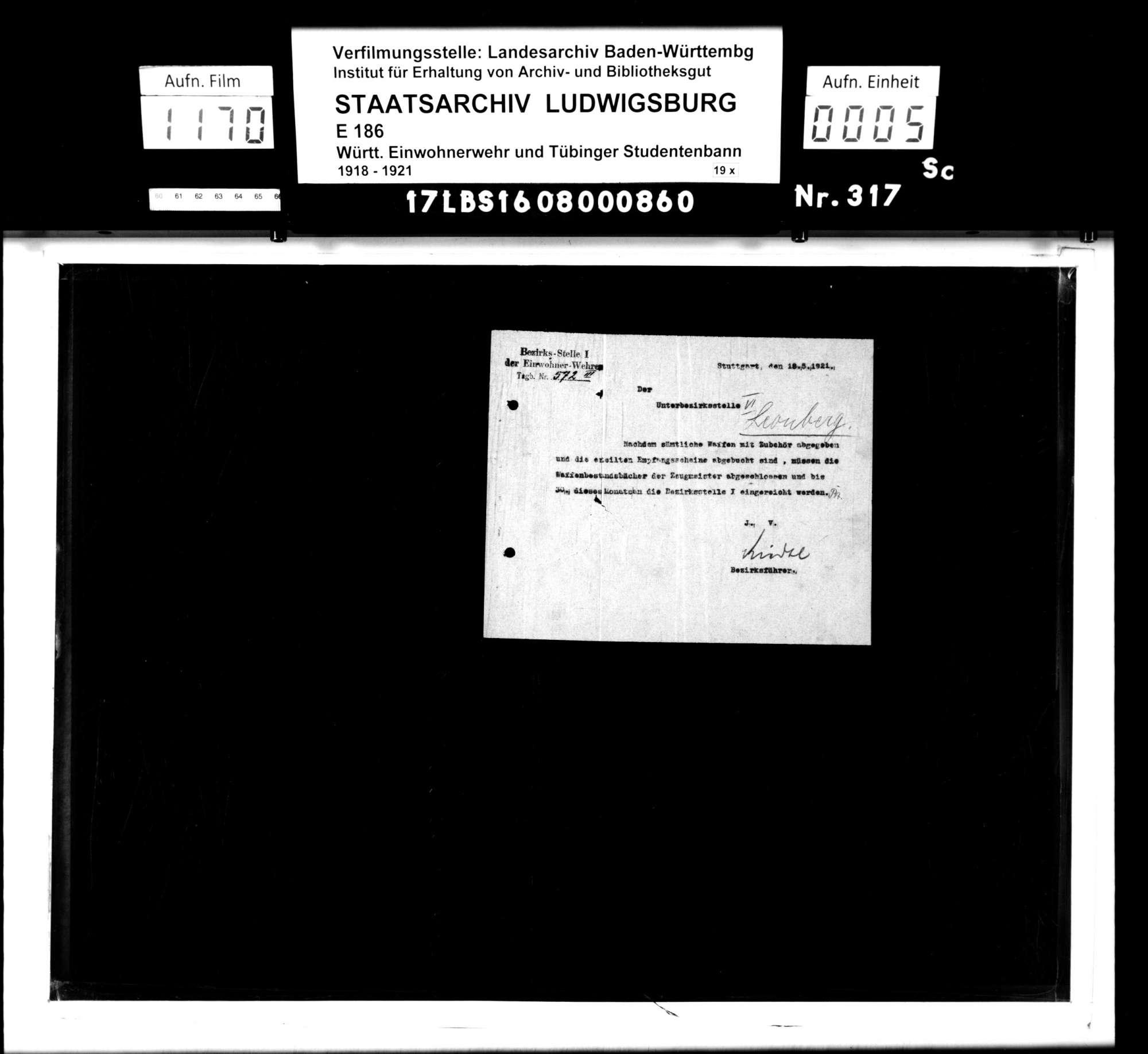 Unterbezirksstelle 6: Vermischte Unterlagen, Bild 3