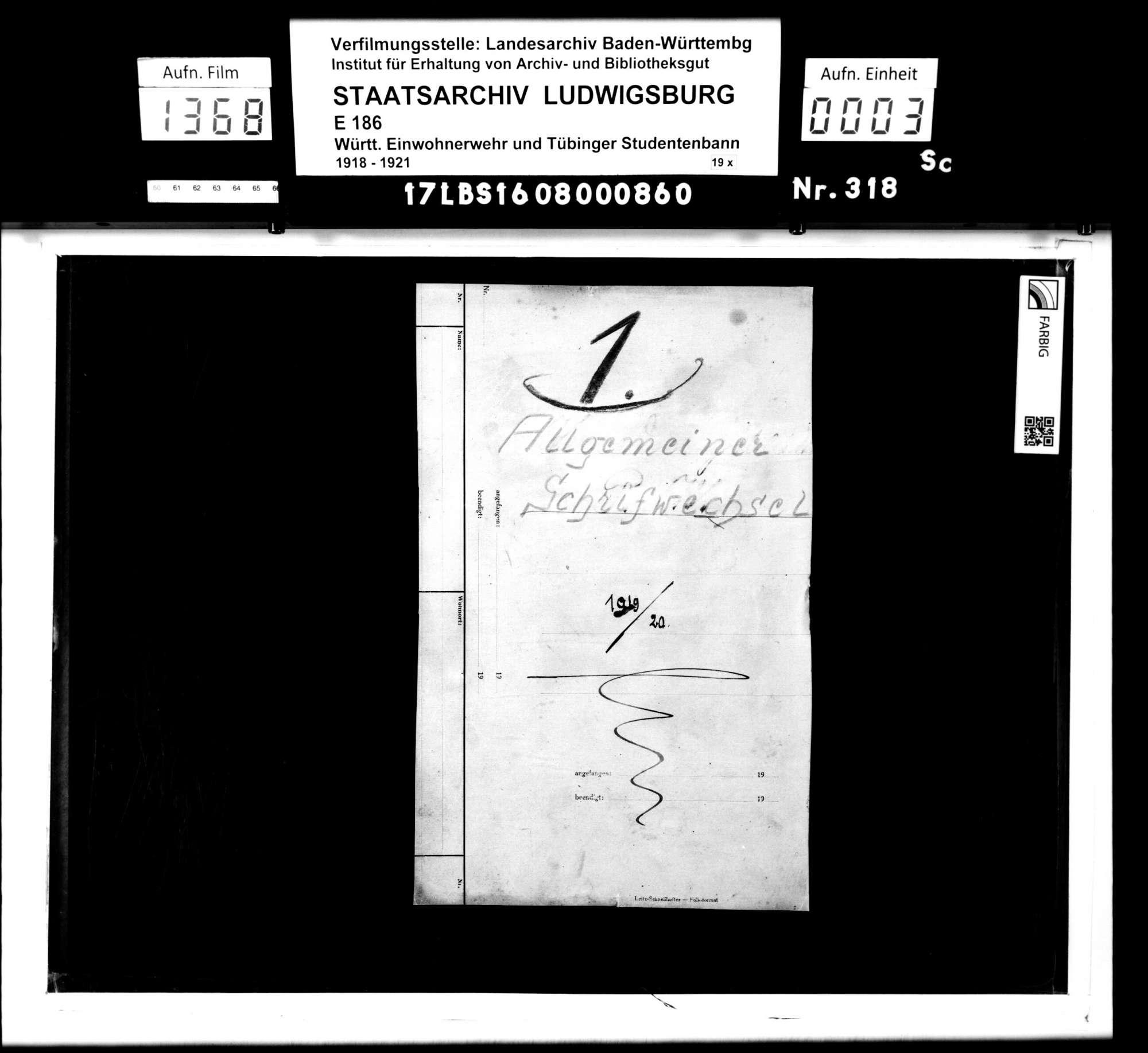 Allgemeiner Schriftverkehr, Bild 1