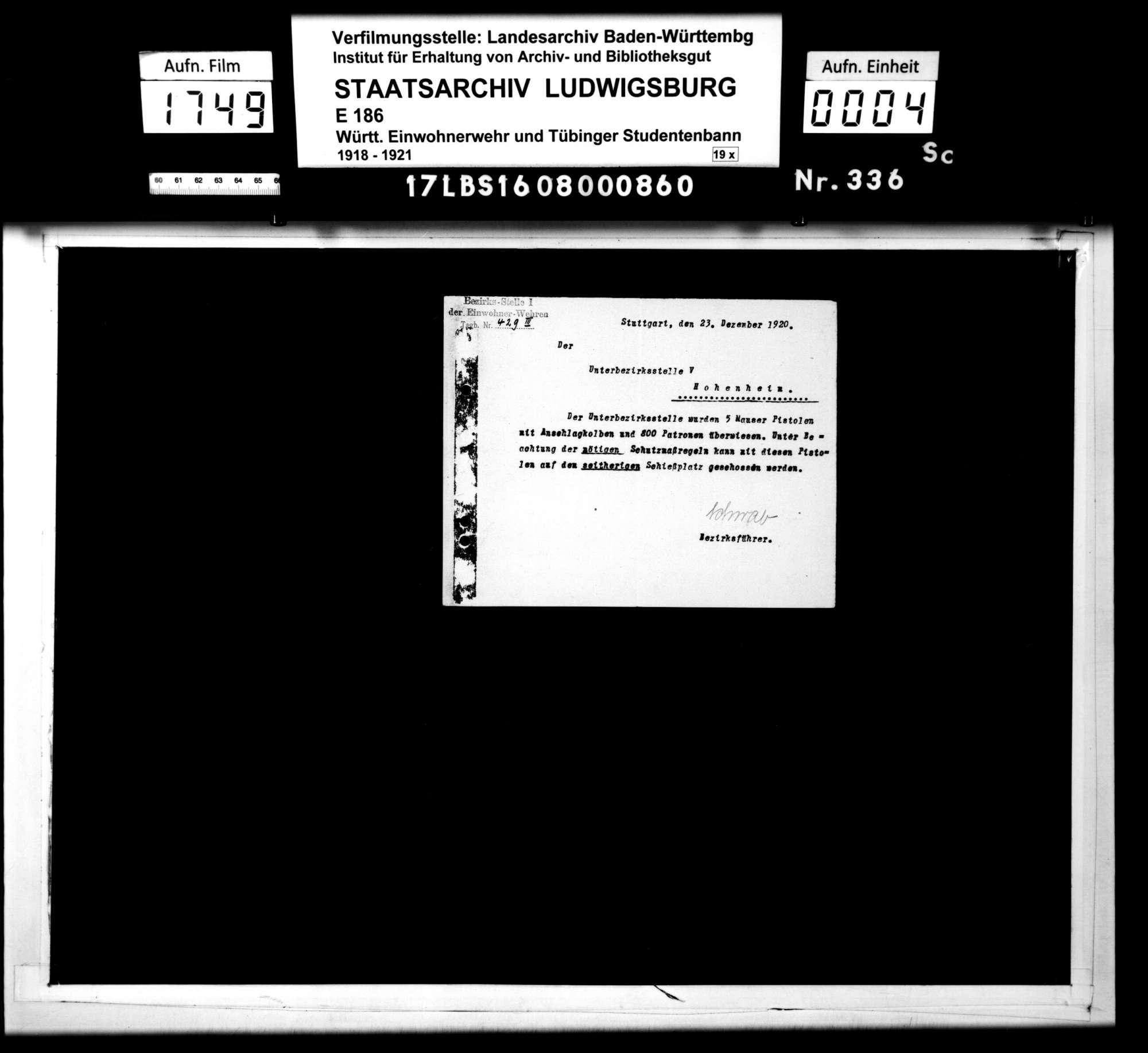 Verfügungen und Befehle der Bezirksstelle 1, Bild 2