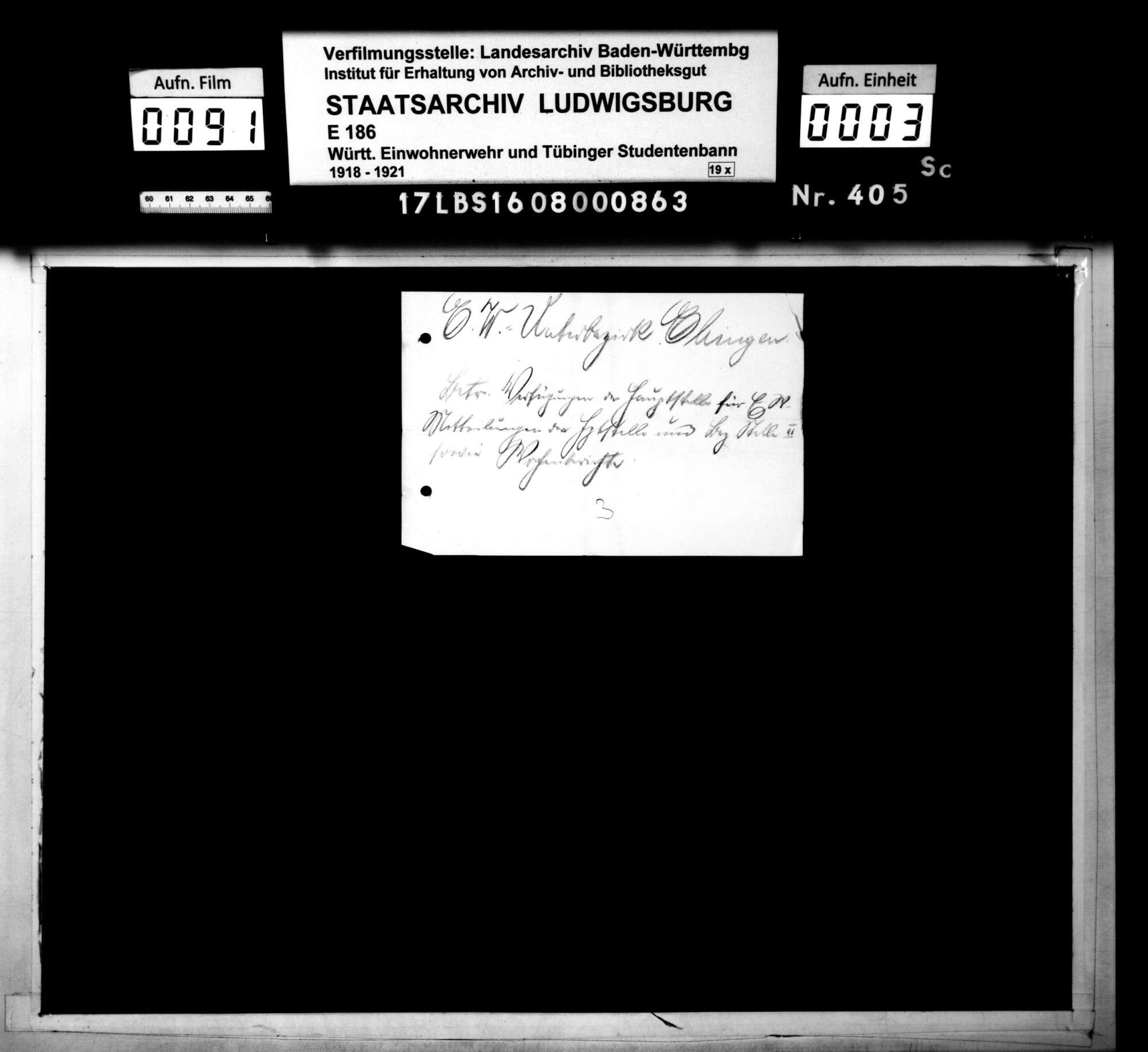 Verfügungen der Hauptstelle für Einwohnerwehren Württembergs, Mitteilungen der Hauptstelle und der Bezirksstelle 2 Ulm, Wochenberichte, Bild 1