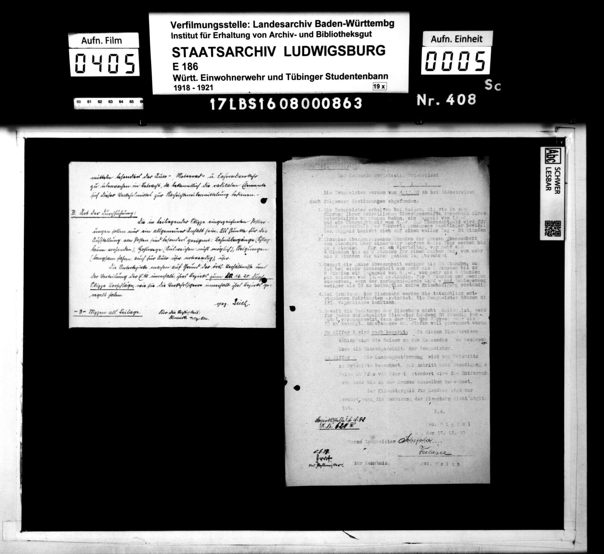 Verfügungen der Hauptstelle für Einwohnerwehren Württembergs, der Bezirksstelle 2 Ulm und anderer Dienststellen, Bild 3