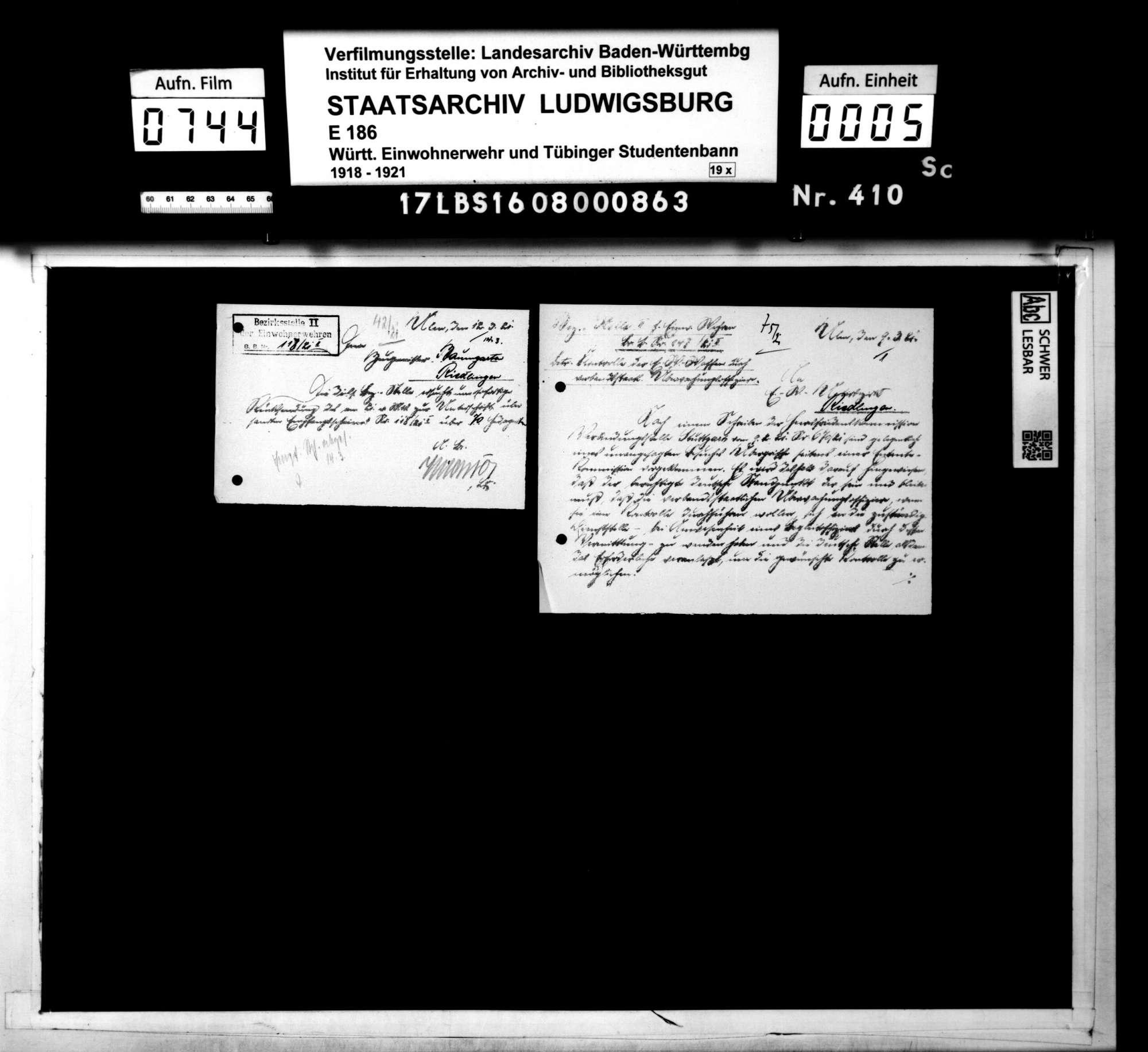 Mitteilungen der Bezirksstelle 2 Ulm und des Kassenamts, Bild 3