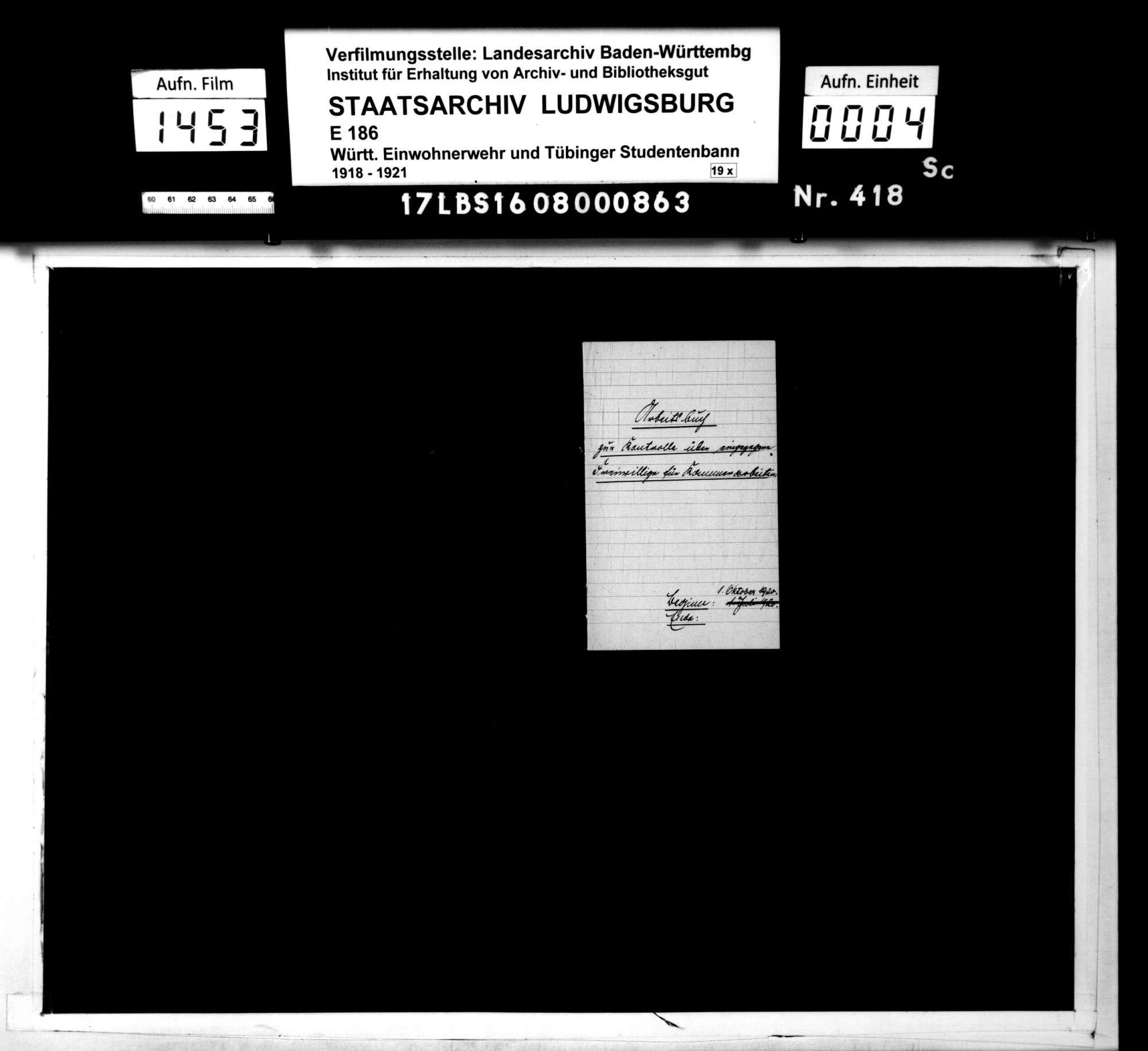 Kontrollbuch der Freiwilligen für Kammerarbeiten, Bild 2