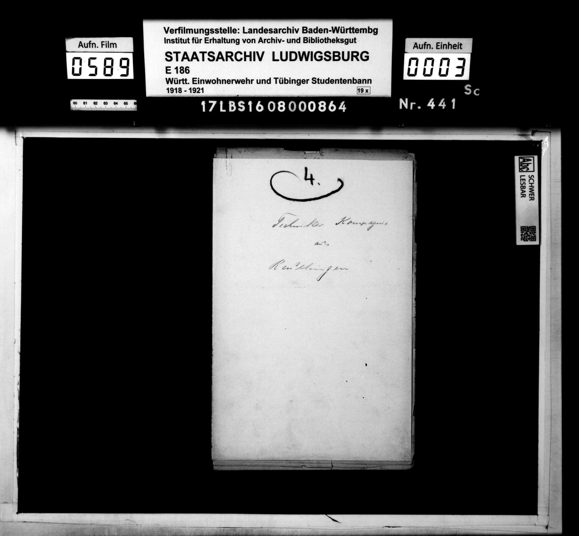 Techniker-Kompanie aus Reutlingen, Bild 1